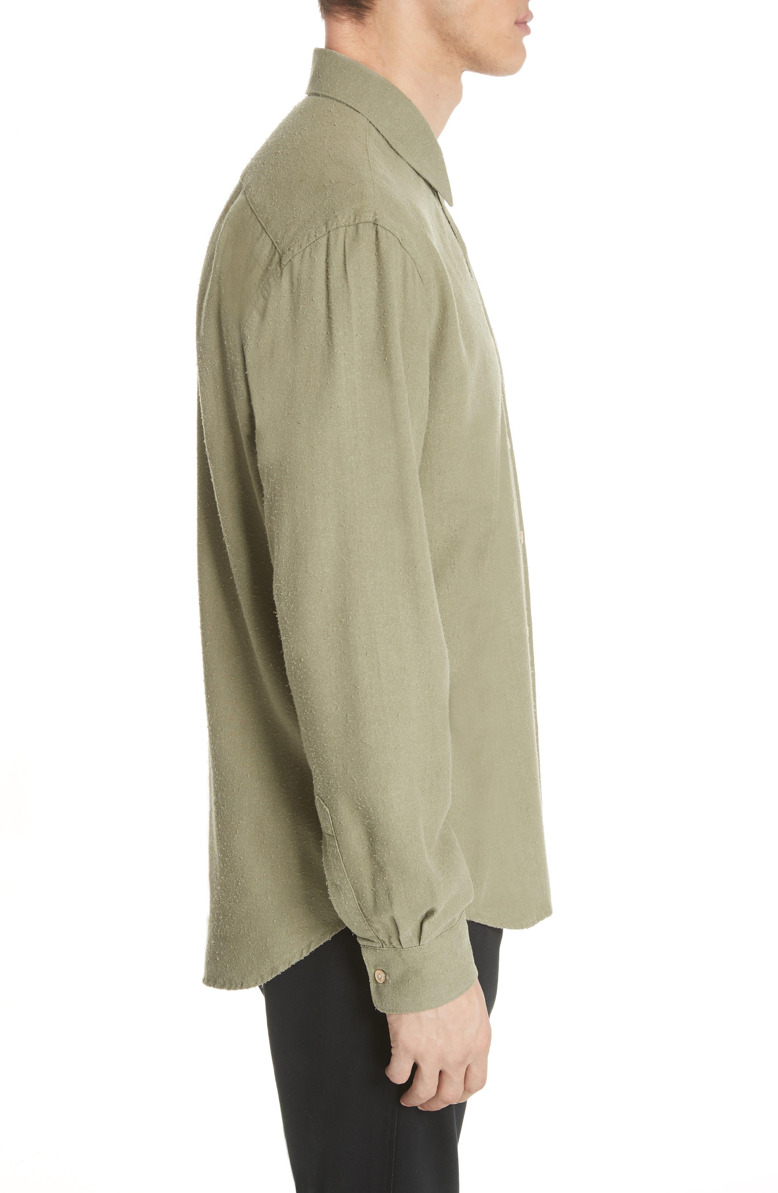 Classic Silk Woven Shirt,                             Alternate thumbnail 3, color,                             330