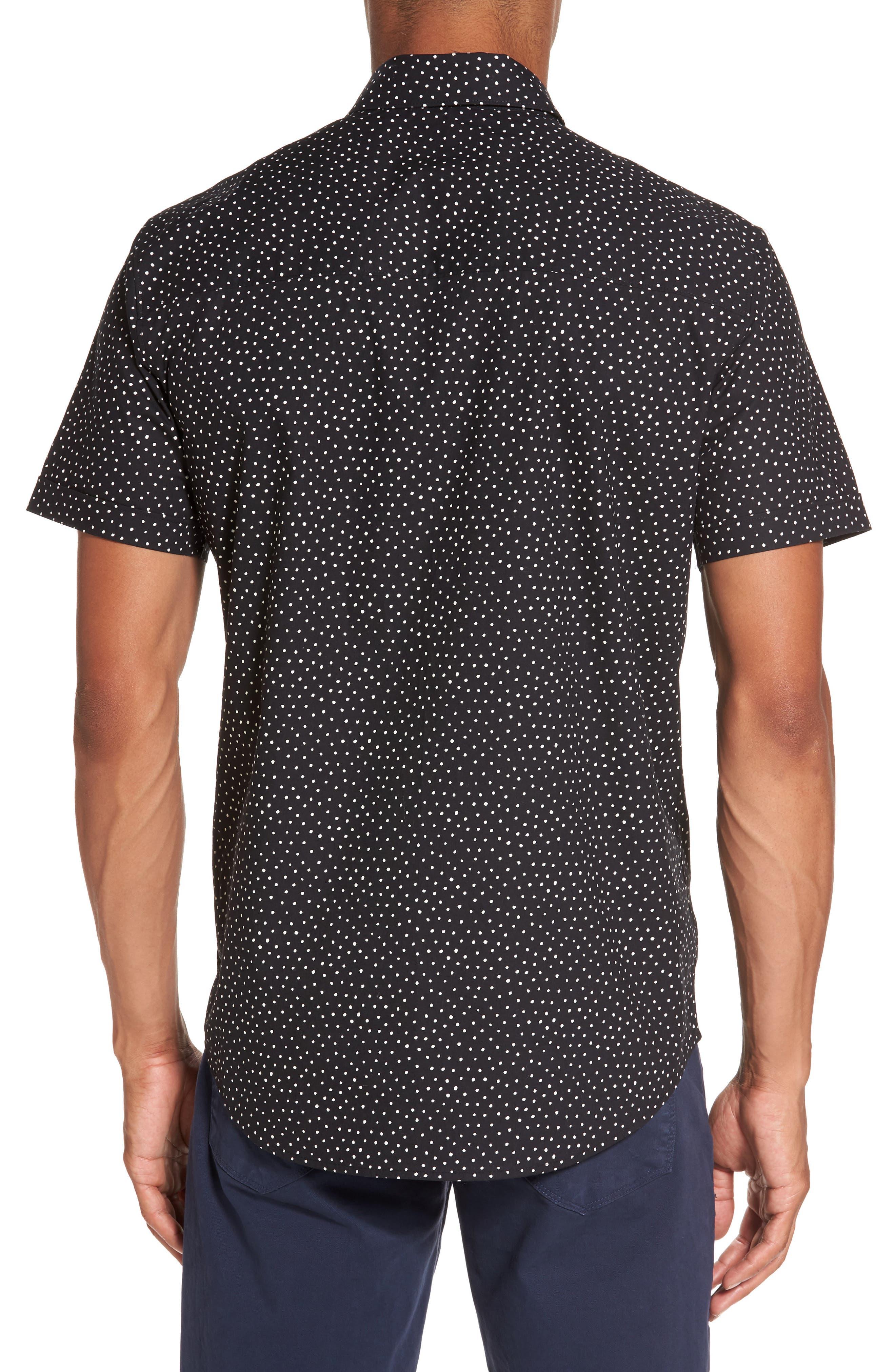 Becker Dot Print Woven Shirt,                             Alternate thumbnail 3, color,