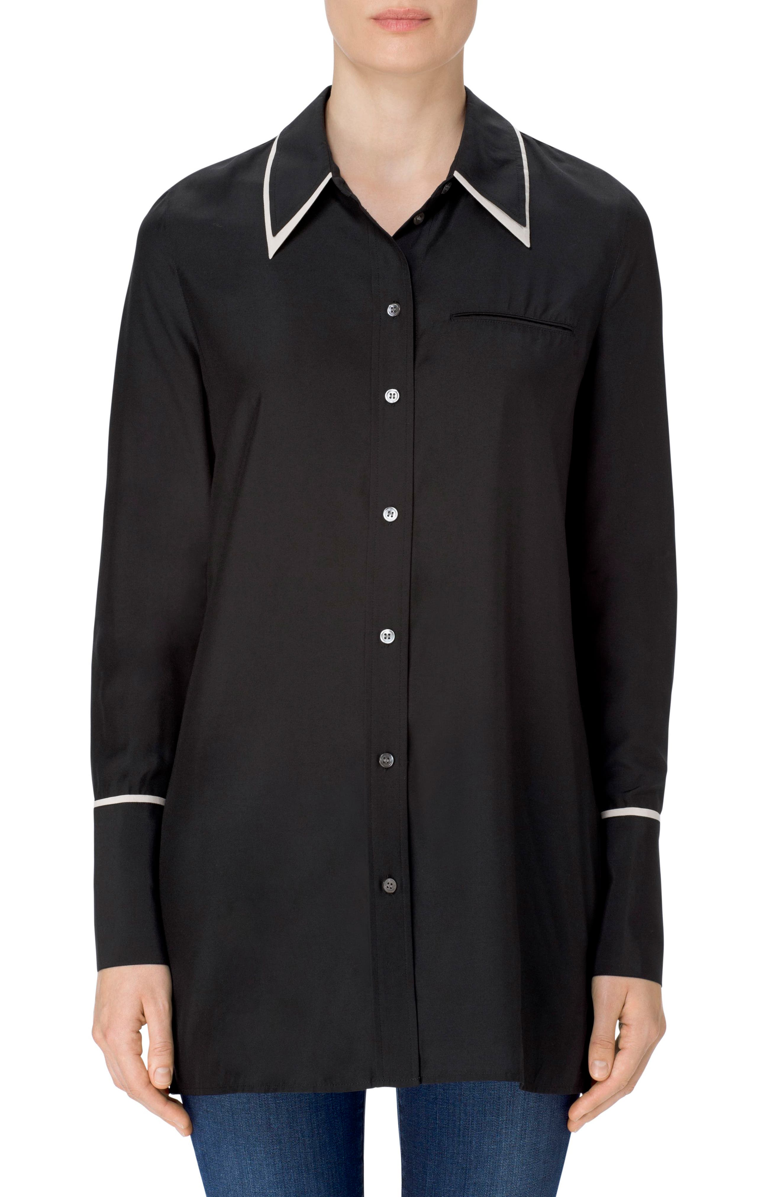 Blake Oversize Shirt,                             Main thumbnail 1, color,                             001