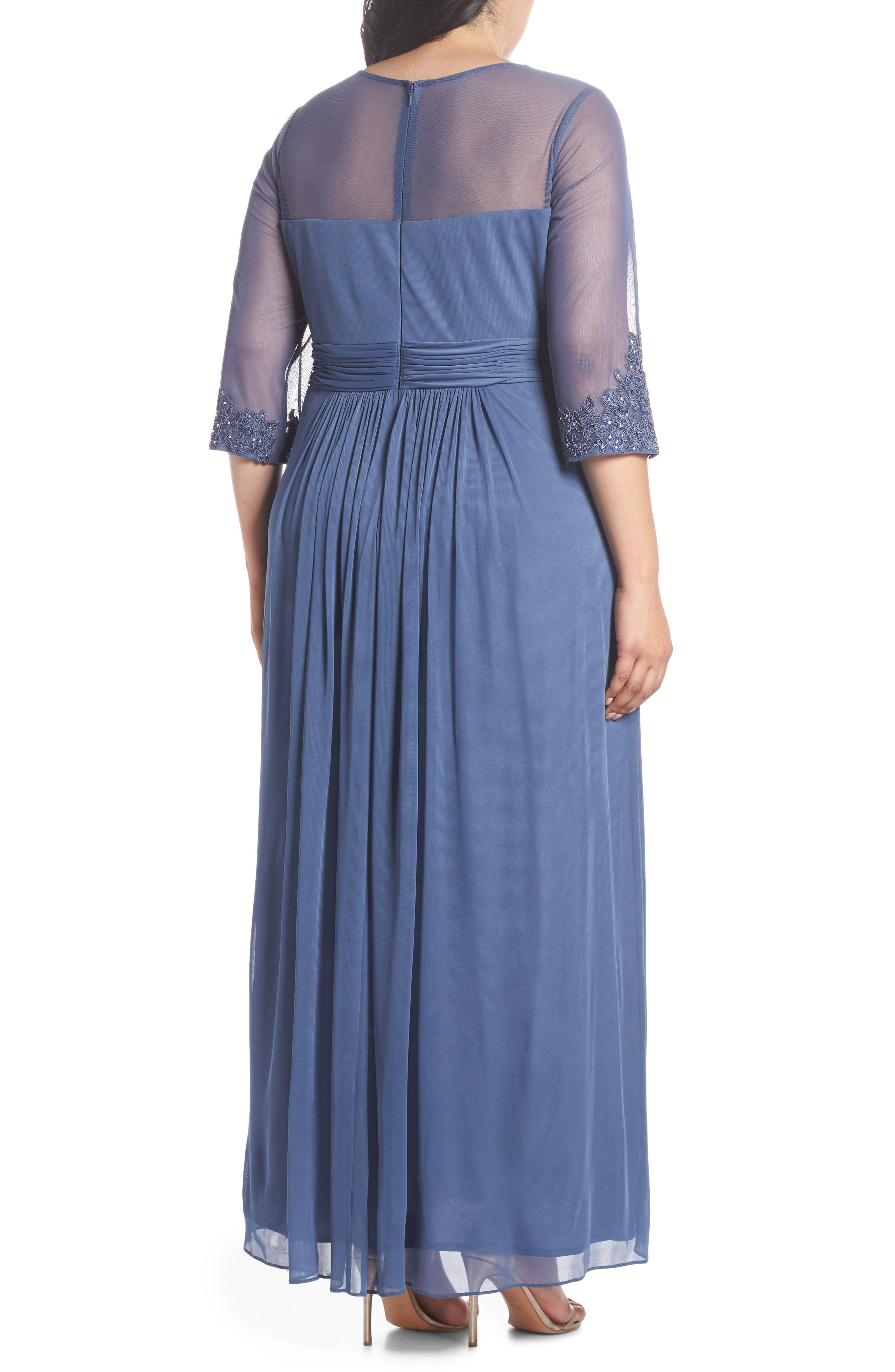 Embellished Illusion Sweetheart A-Line Gown,                             Alternate thumbnail 2, color,                             VIOLET