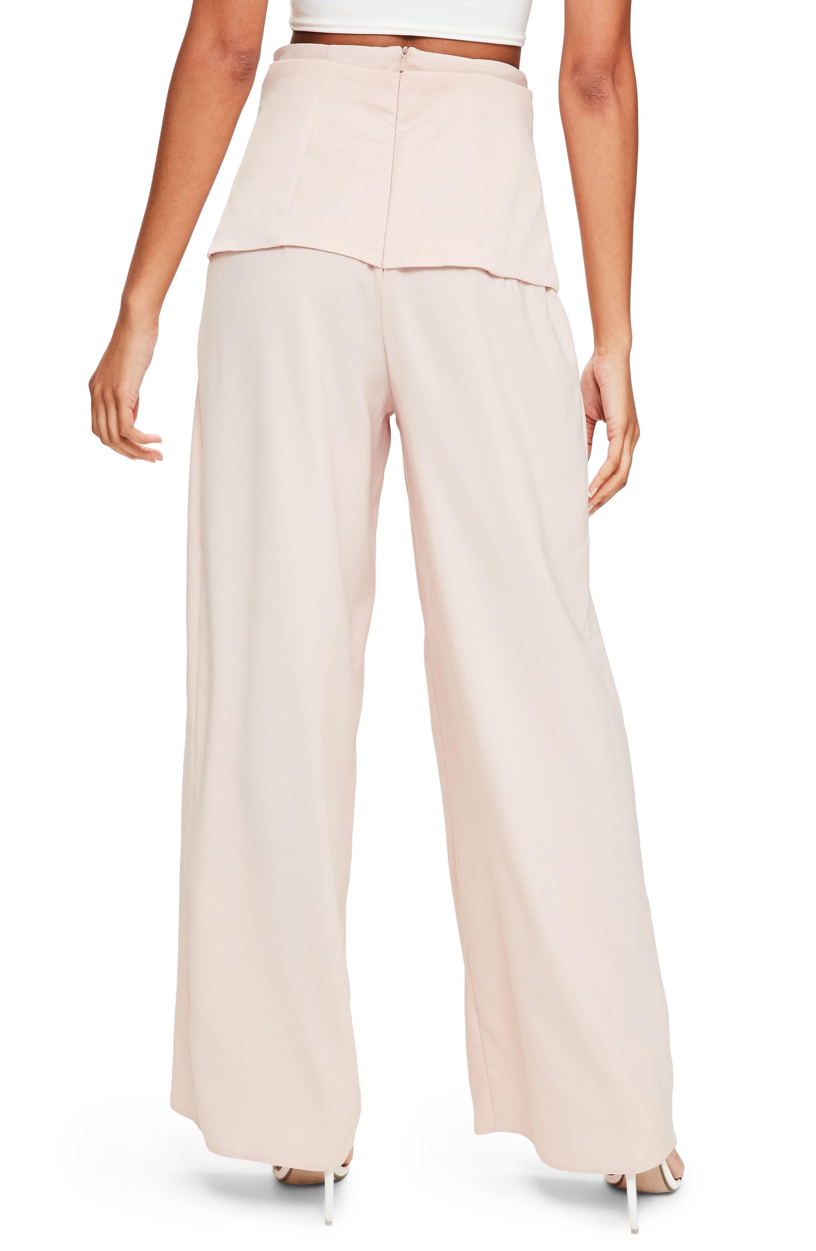 Corset Waist Crepe Pants,                             Alternate thumbnail 2, color,                             690