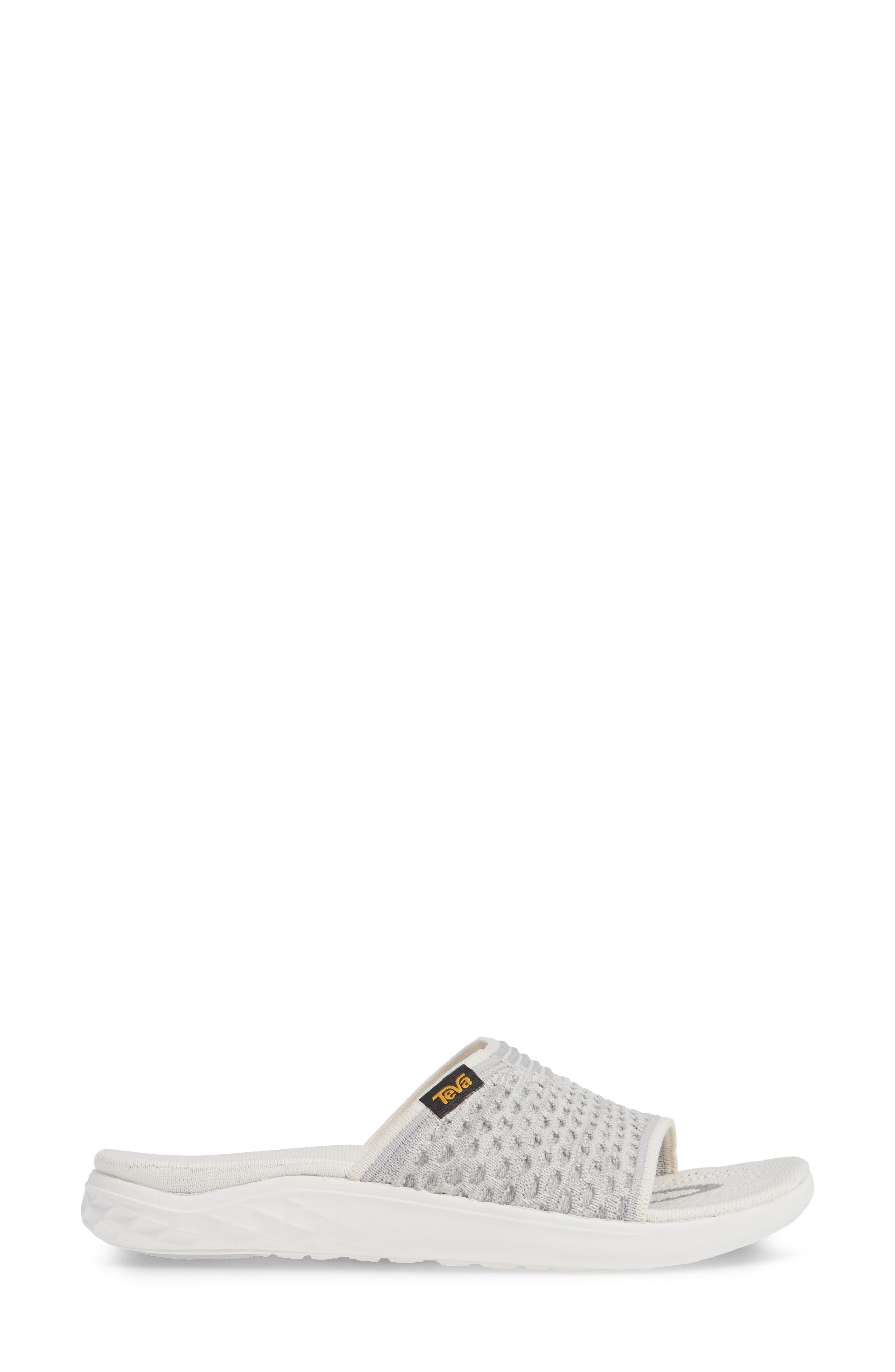 Terra Float 2 Knit Slide Sandal,                             Alternate thumbnail 3, color,                             BRIGHT WHITE FABRIC
