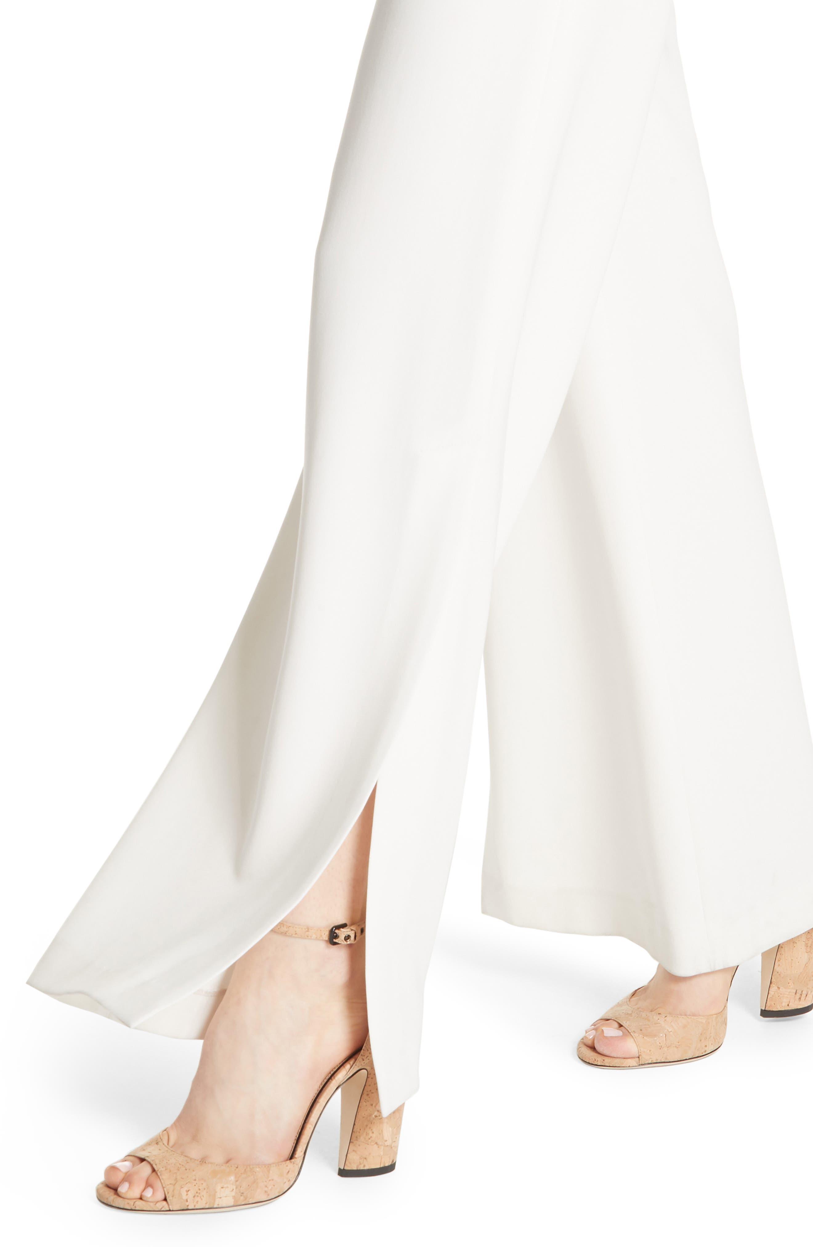 High Slit Admiral Crepe Pants,                             Alternate thumbnail 8, color,