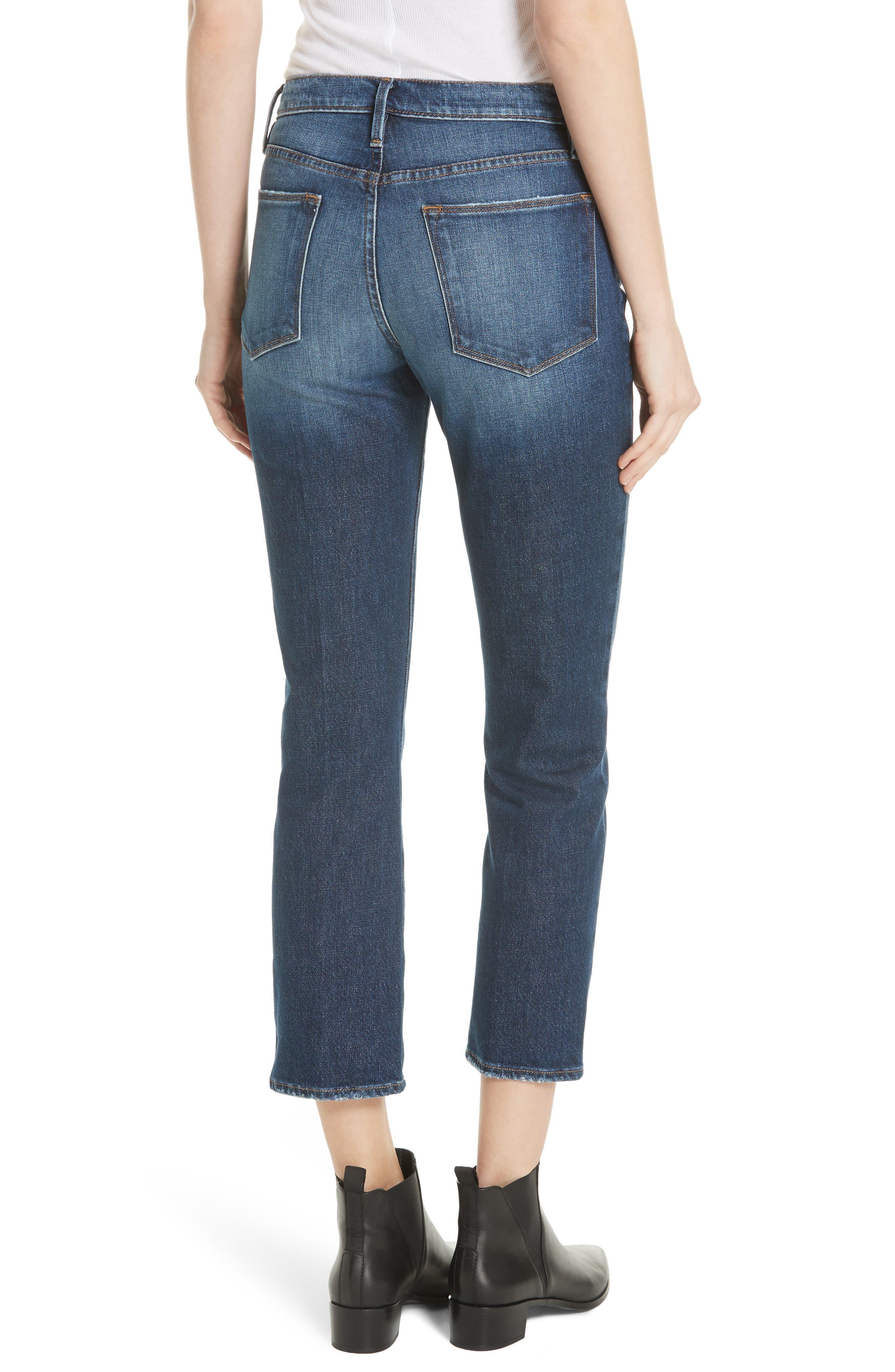 Le High Straight Leg Jeans,                             Alternate thumbnail 2, color,                             401