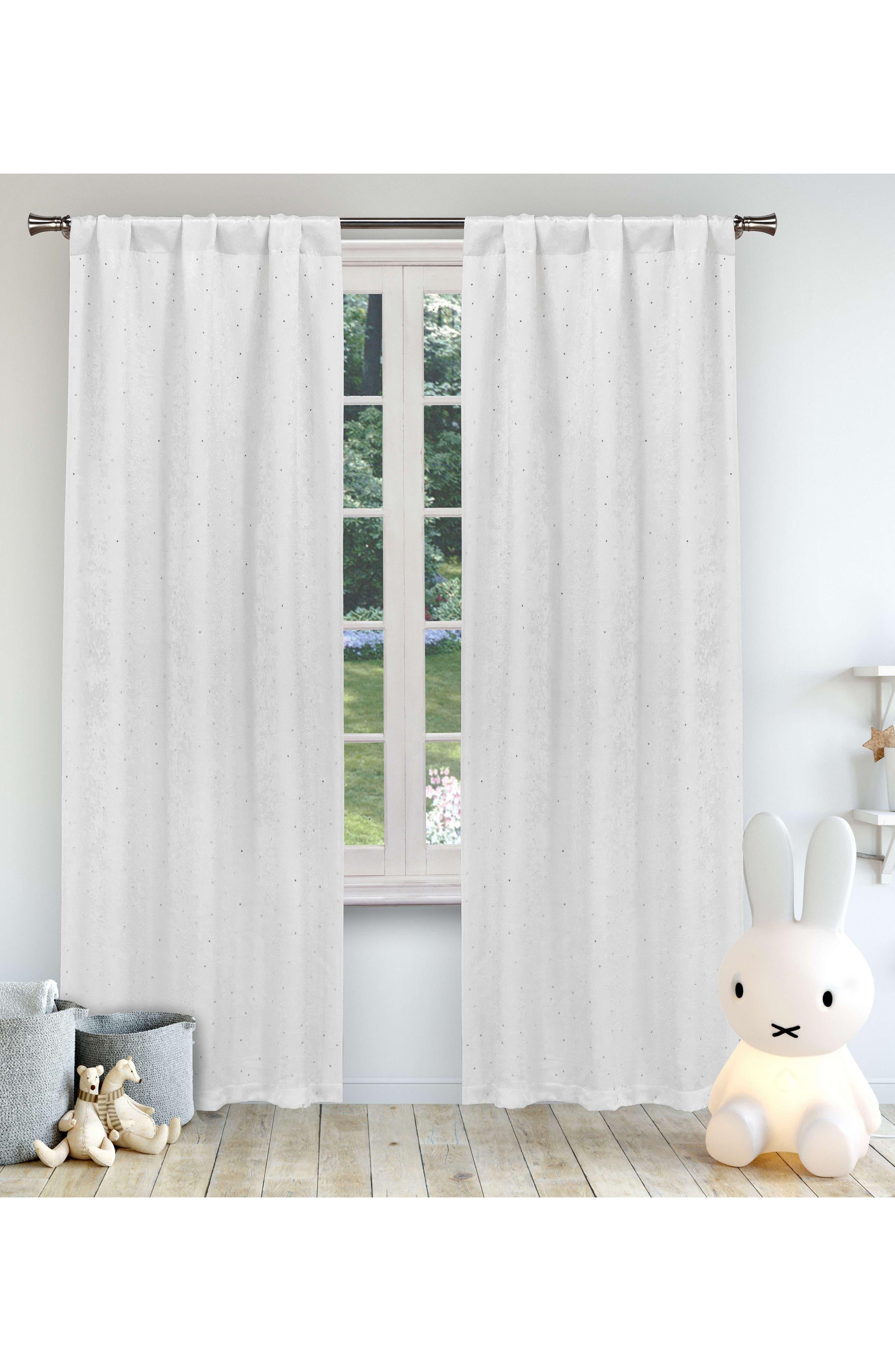 LALA + BASH Danielle Sheer Window Panels, Main, color, WHITE