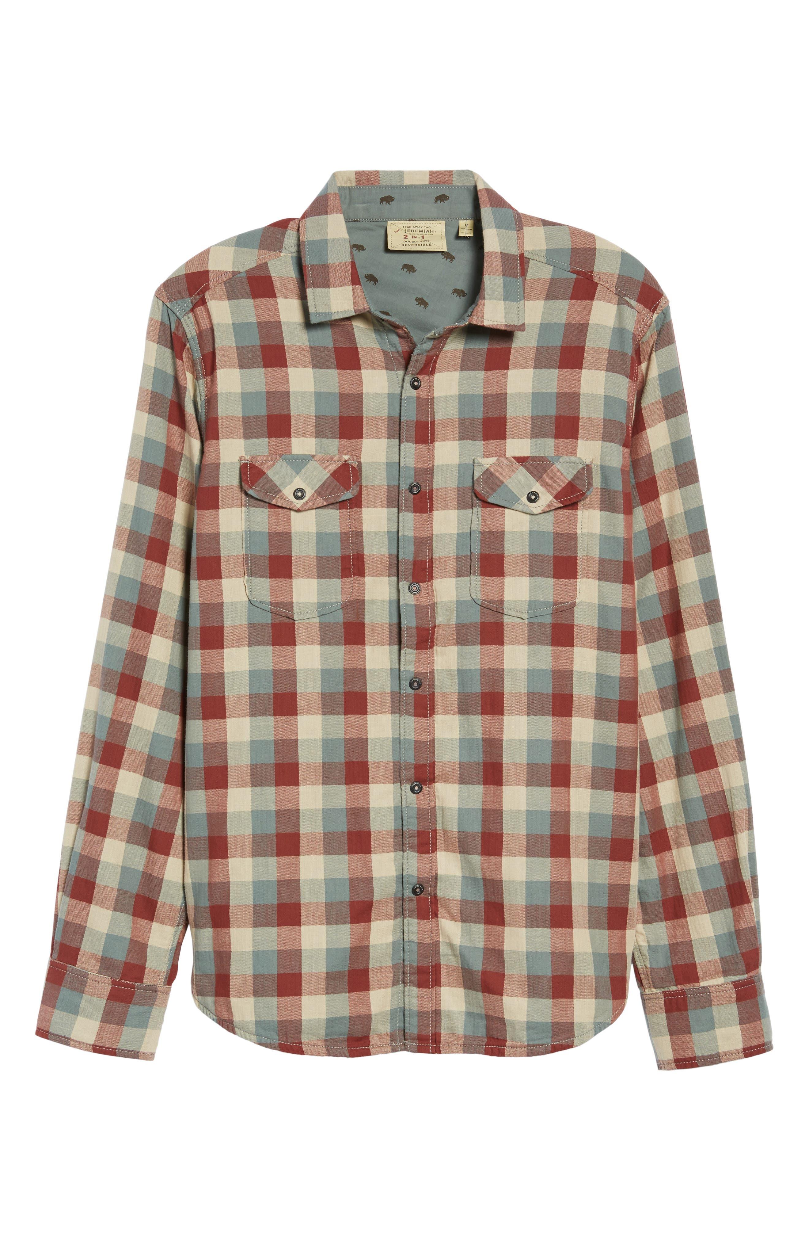 Reversible Regular Fit Sport Shirt,                             Alternate thumbnail 5, color,                             424