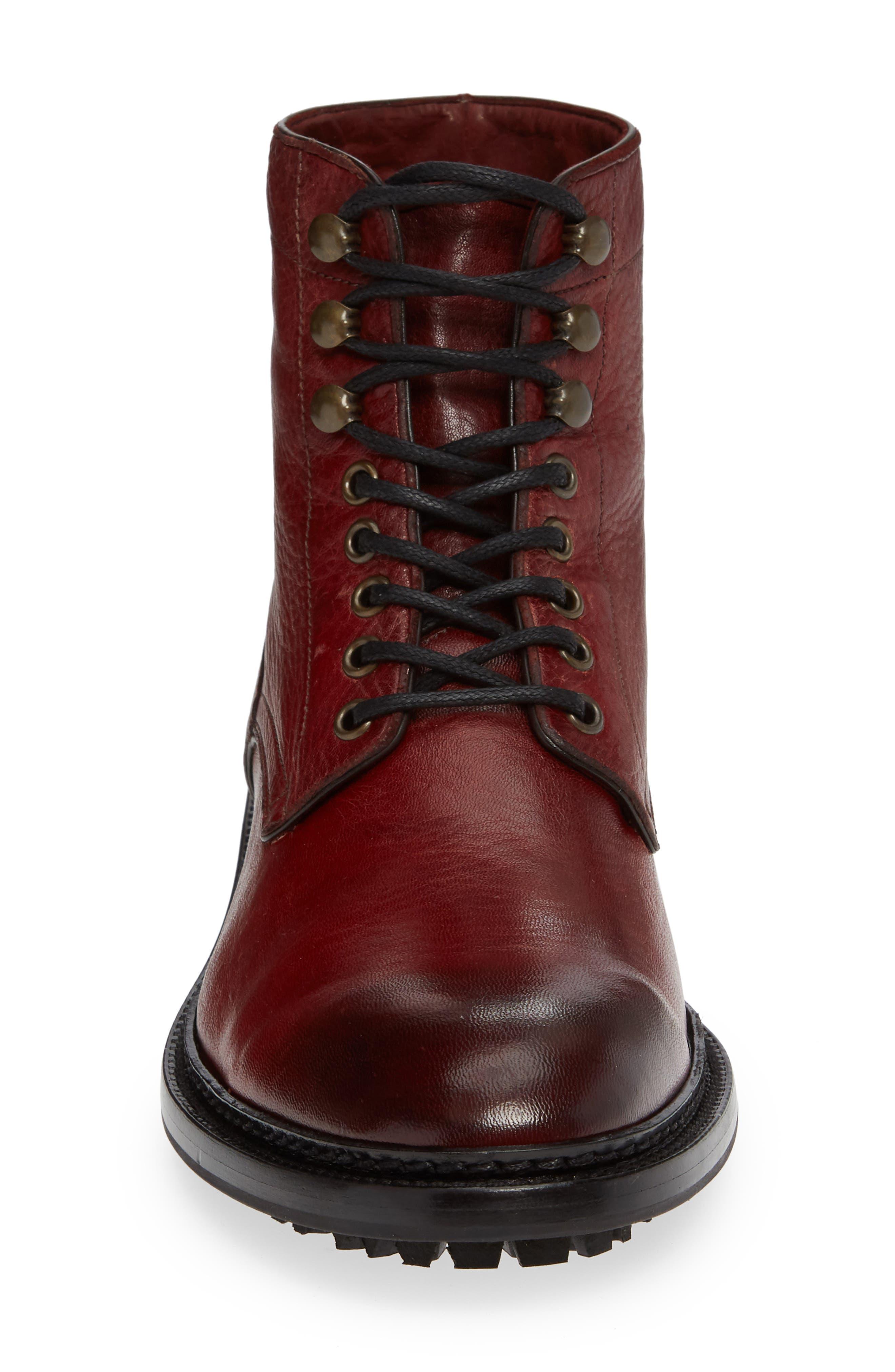 Greyson Plain Toe Boot,                             Alternate thumbnail 4, color,                             BURGUNDY