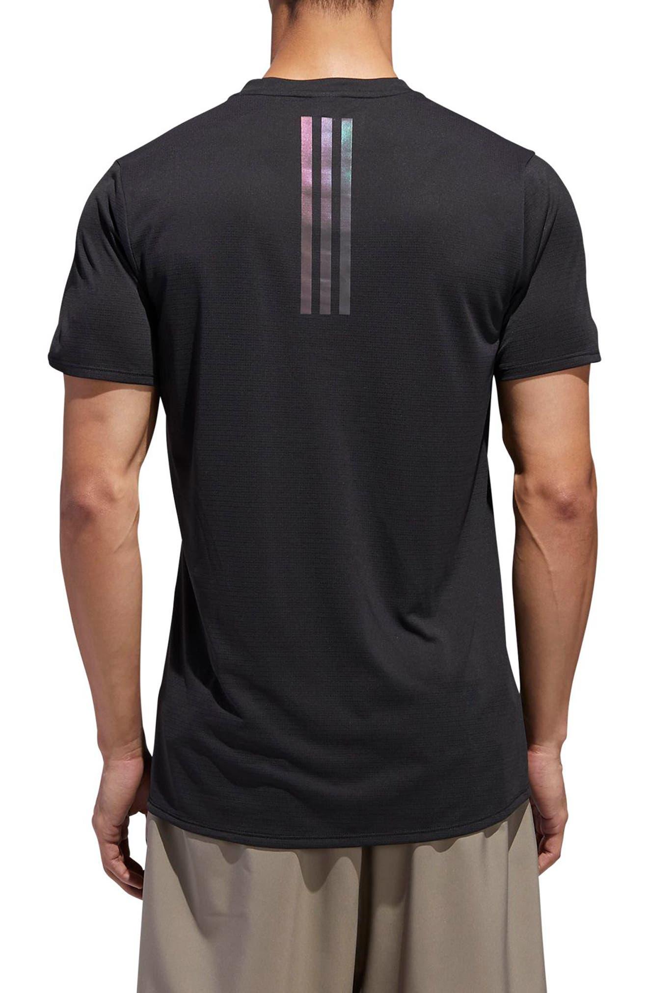 Supernova Regular Fit Short Sleeve Reflective Running T-Shirt,                             Alternate thumbnail 2, color,                             BLACK