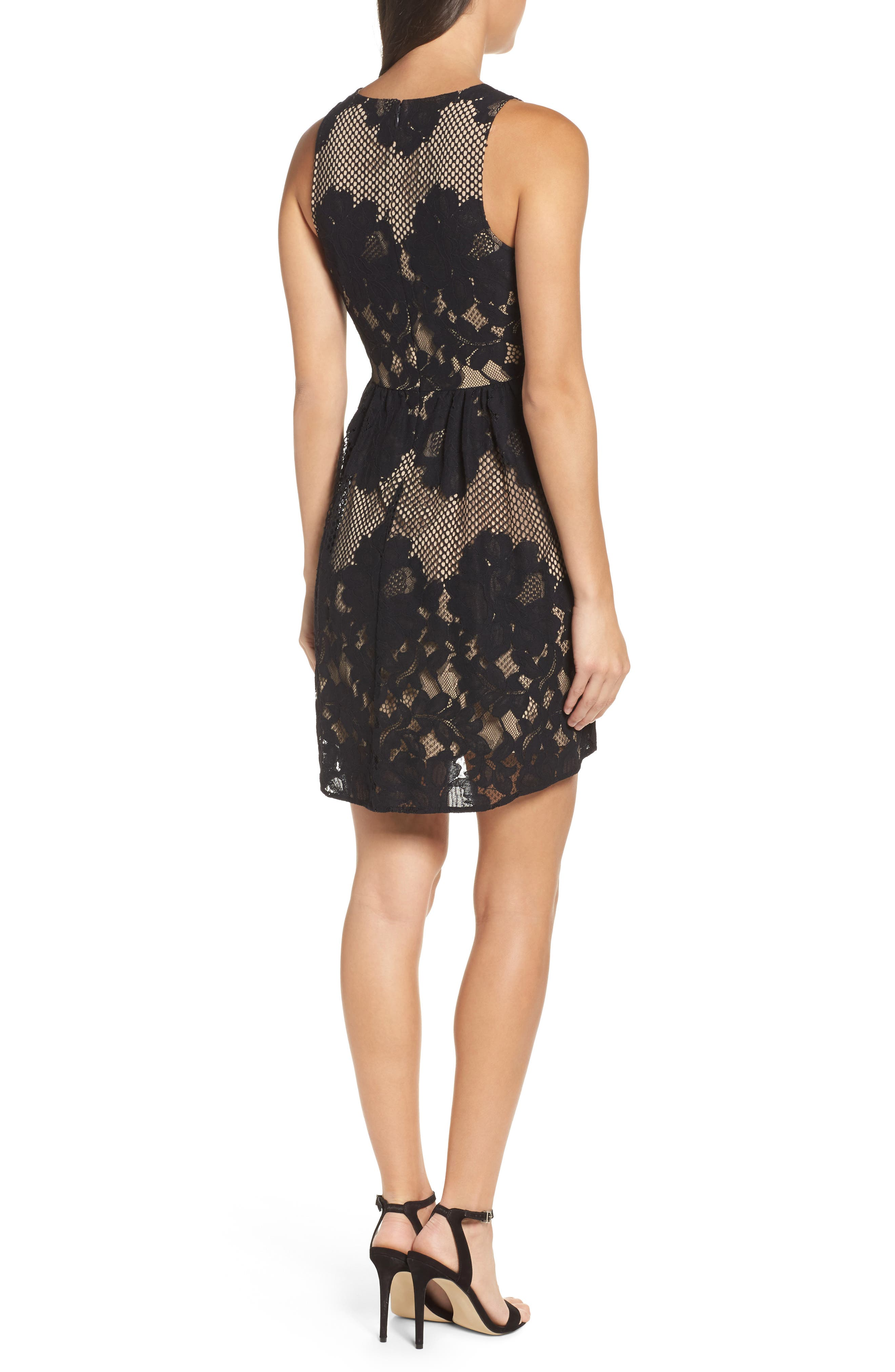 La Grande Roue Lace Skater Dress,                             Alternate thumbnail 2, color,