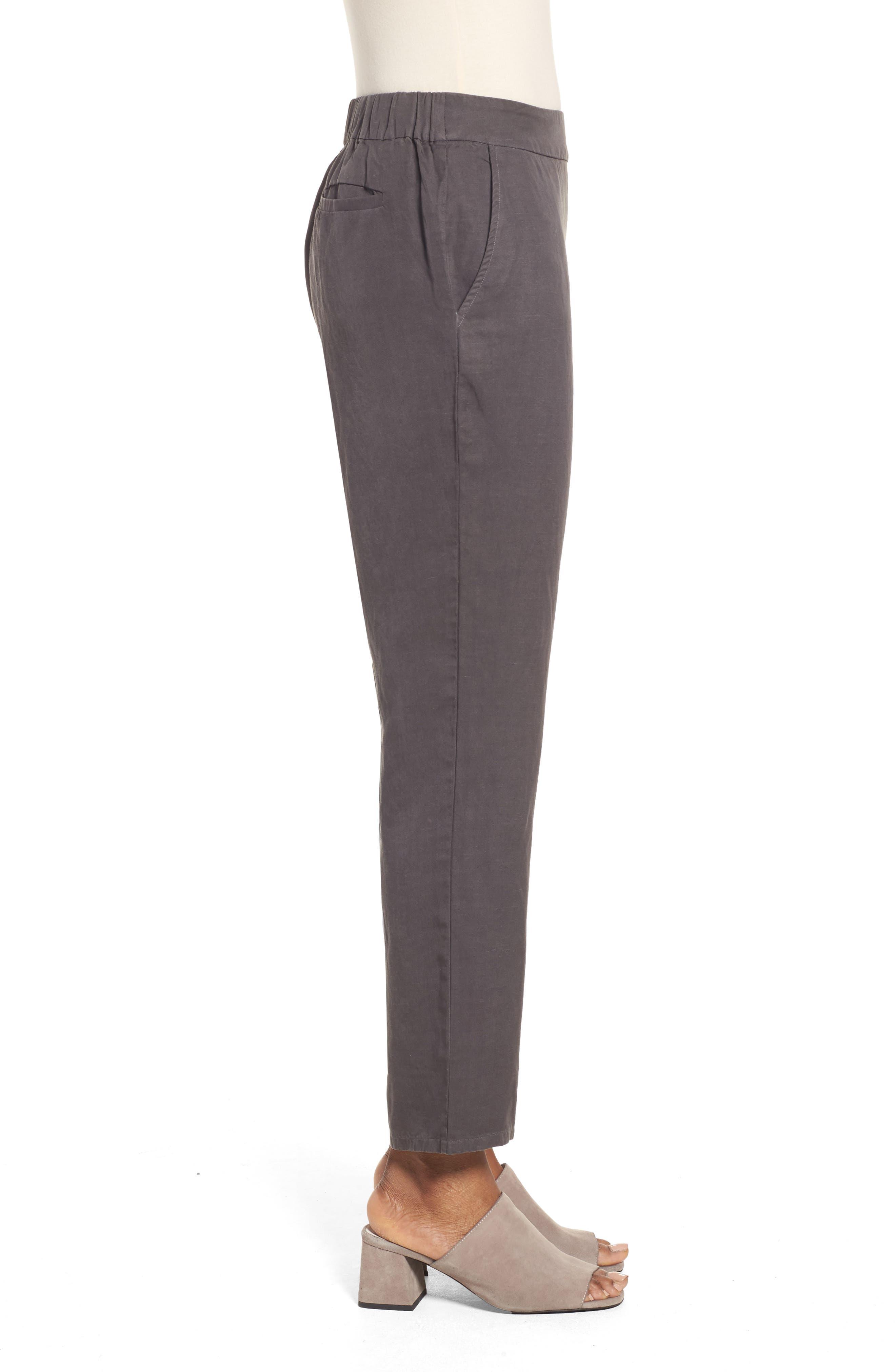 Tencel<sup>®</sup> & Linen Ankle Pants,                             Alternate thumbnail 6, color,
