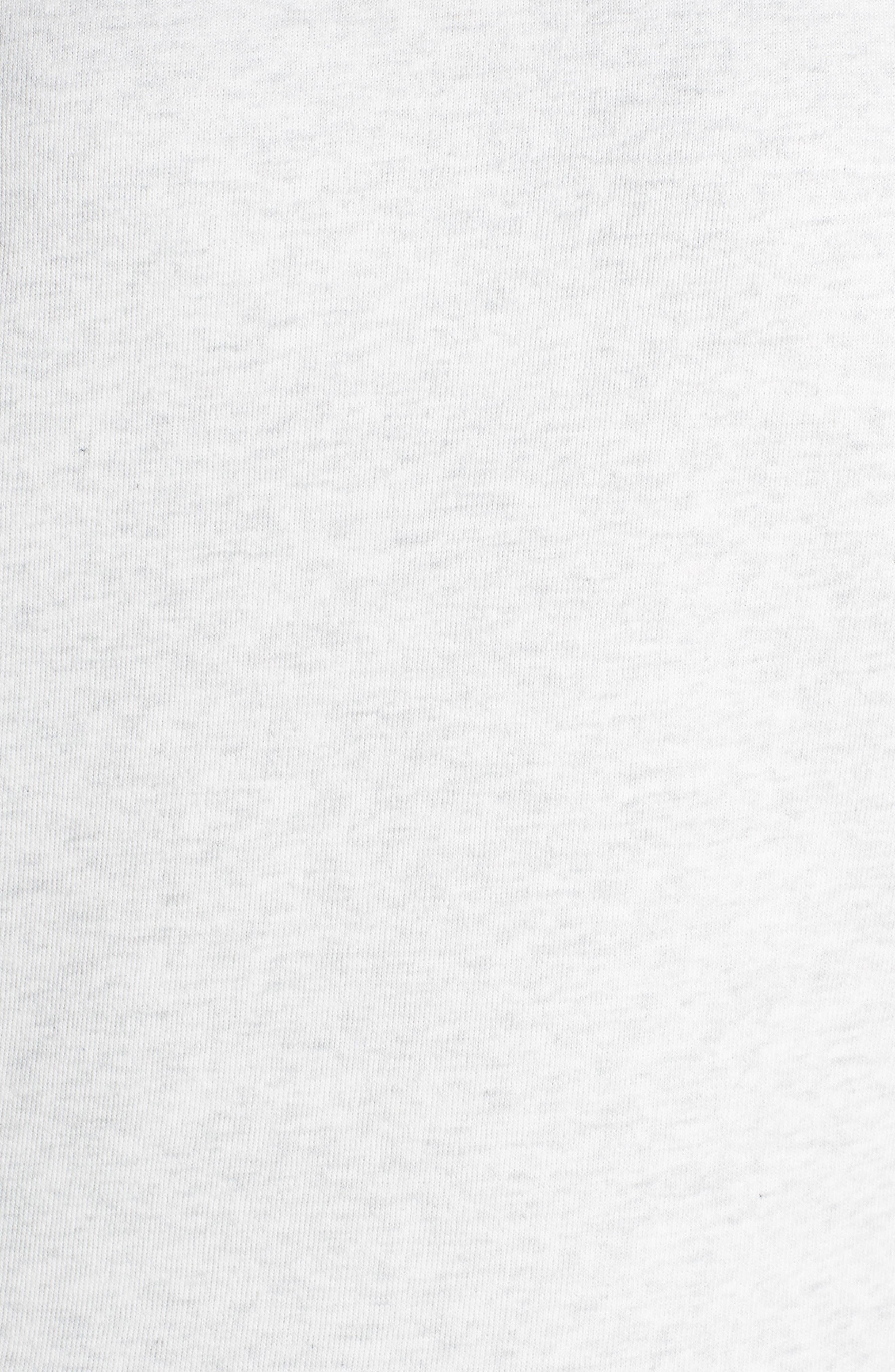 'Haze' Funnel Neck Sweatshirt,                             Alternate thumbnail 6, color,                             WHITE HEATHER