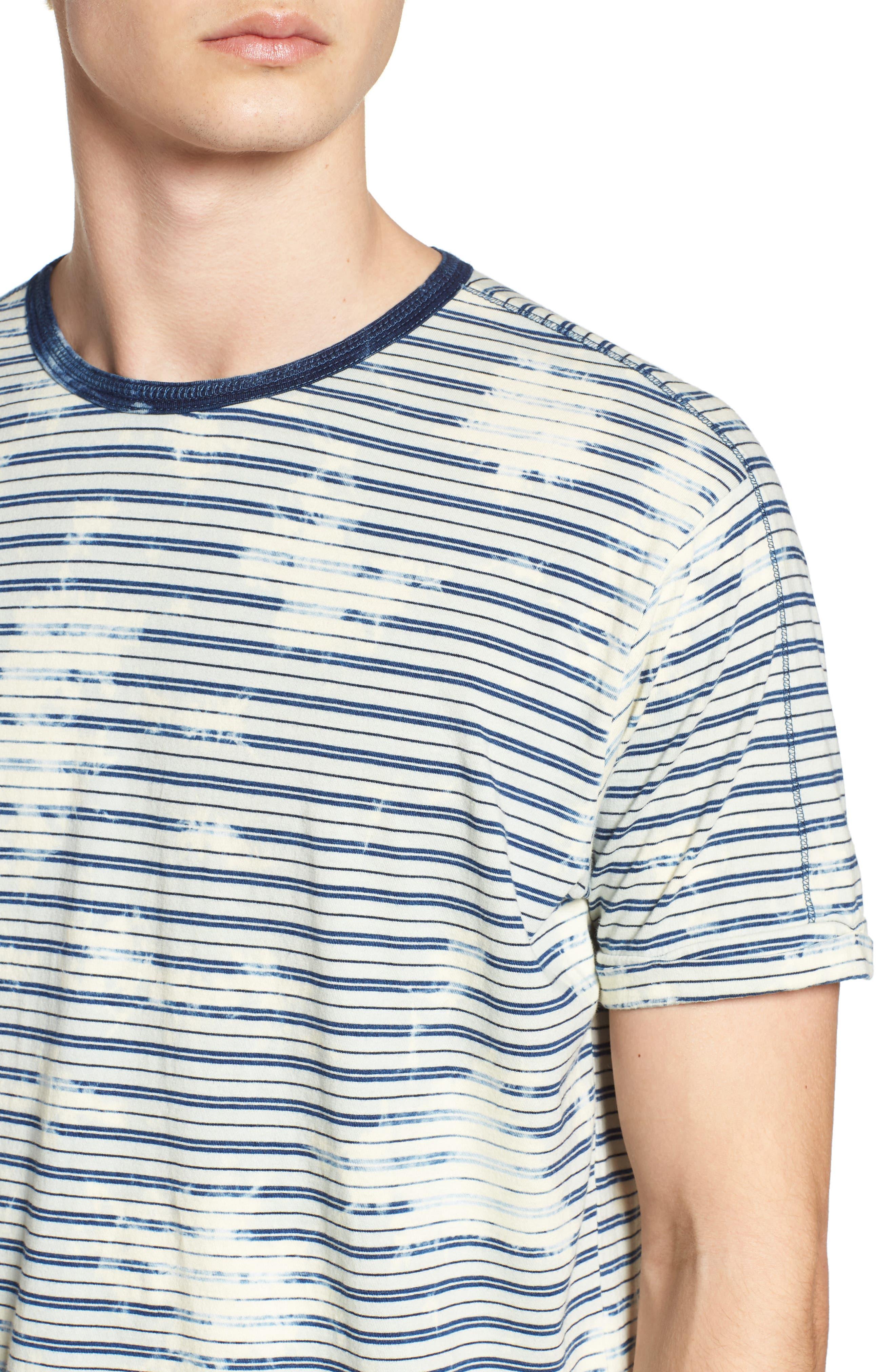 Washed Crewneck T-Shirt,                             Alternate thumbnail 4, color,                             400