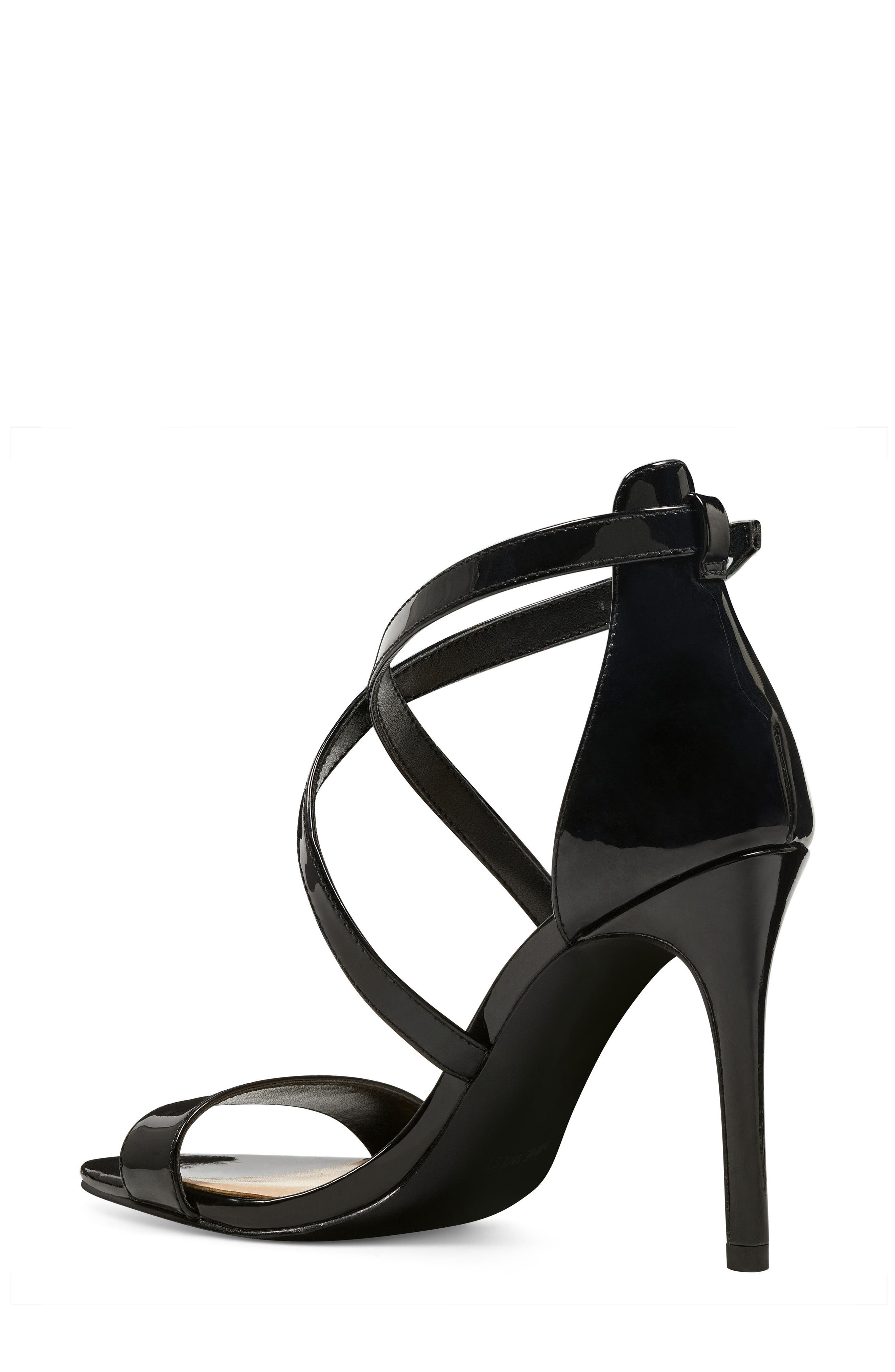 Mydebut Strappy Sandal,                             Alternate thumbnail 2, color,                             BLACK FAUX LEATHER