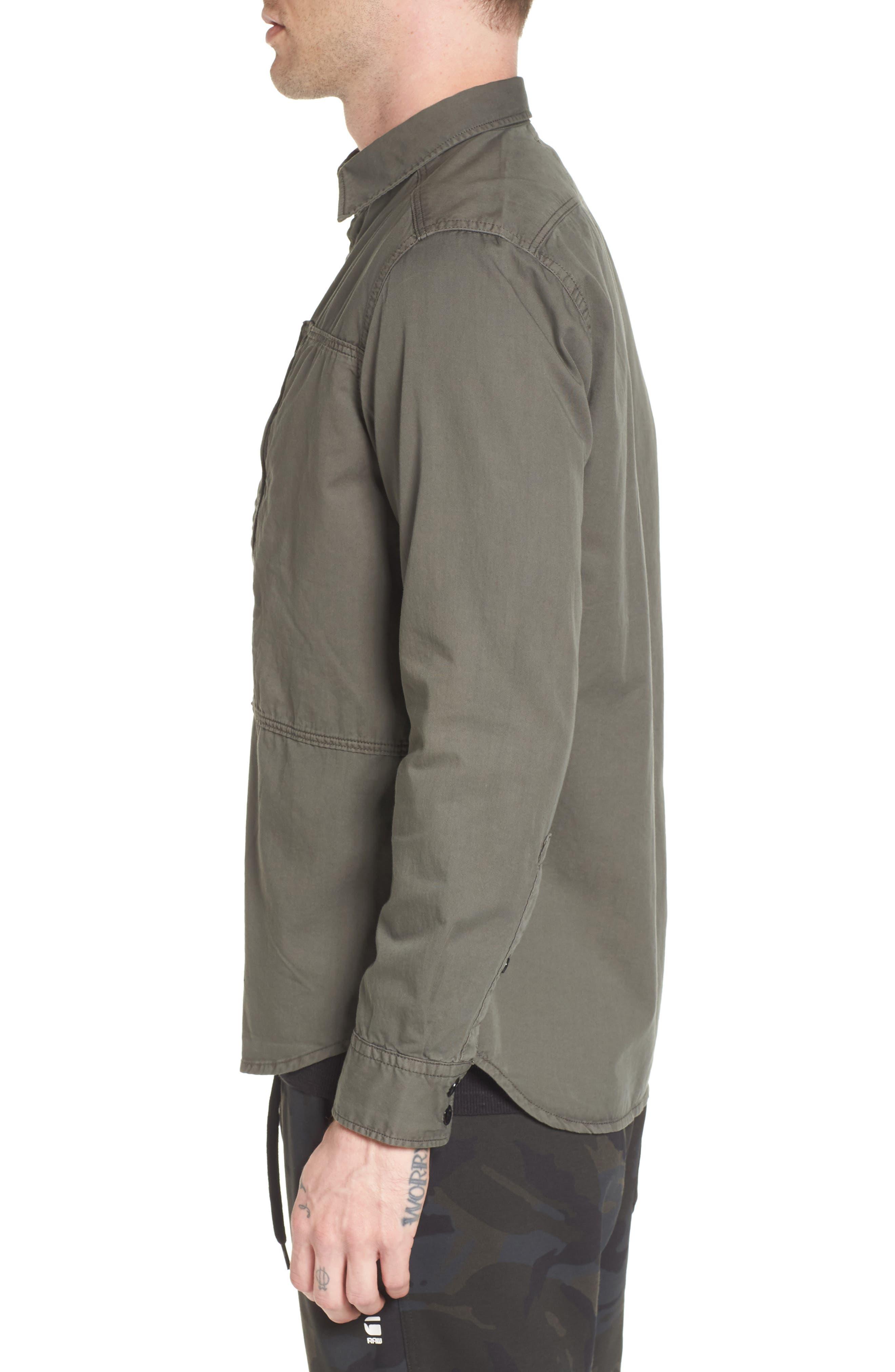 Powel Zip Pocket Shirt,                             Alternate thumbnail 3, color,                             020