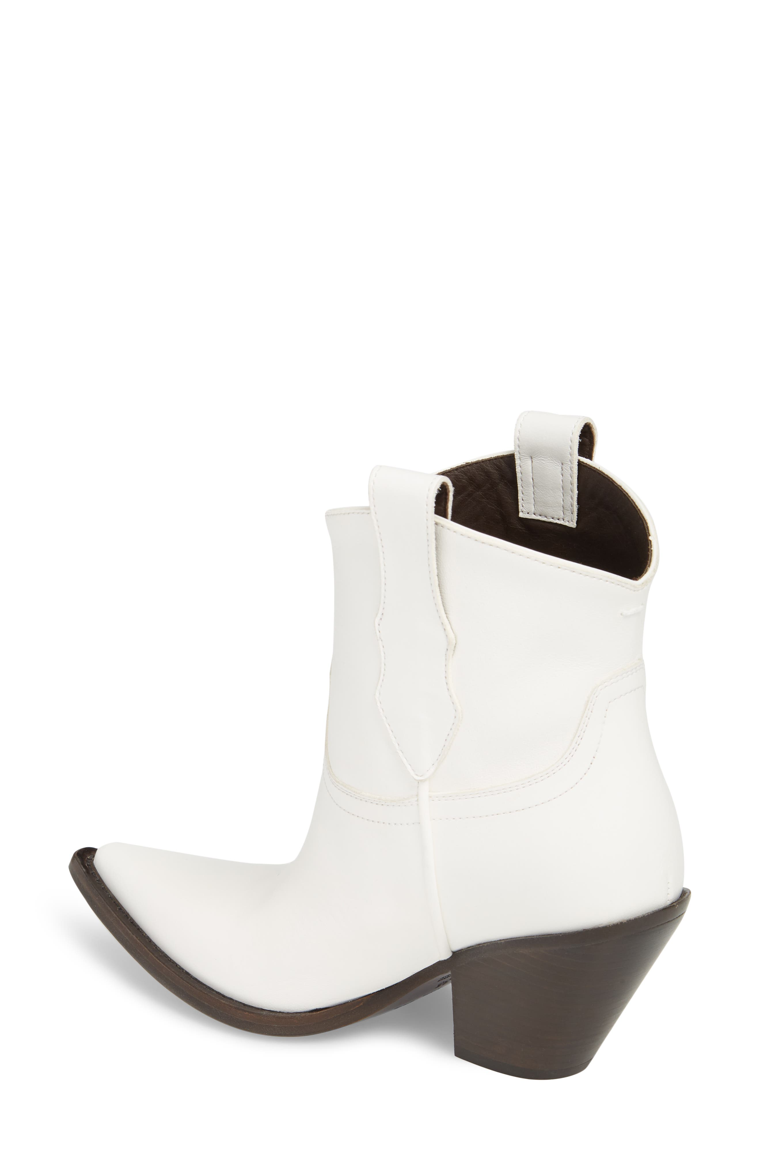 Low Mexas Western Bootie,                             Alternate thumbnail 2, color,                             WHITE