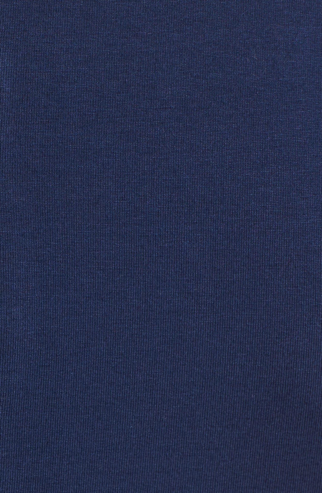 Chiffon Overlay Maxi Dress,                             Alternate thumbnail 6, color,                             HIGH TIDE