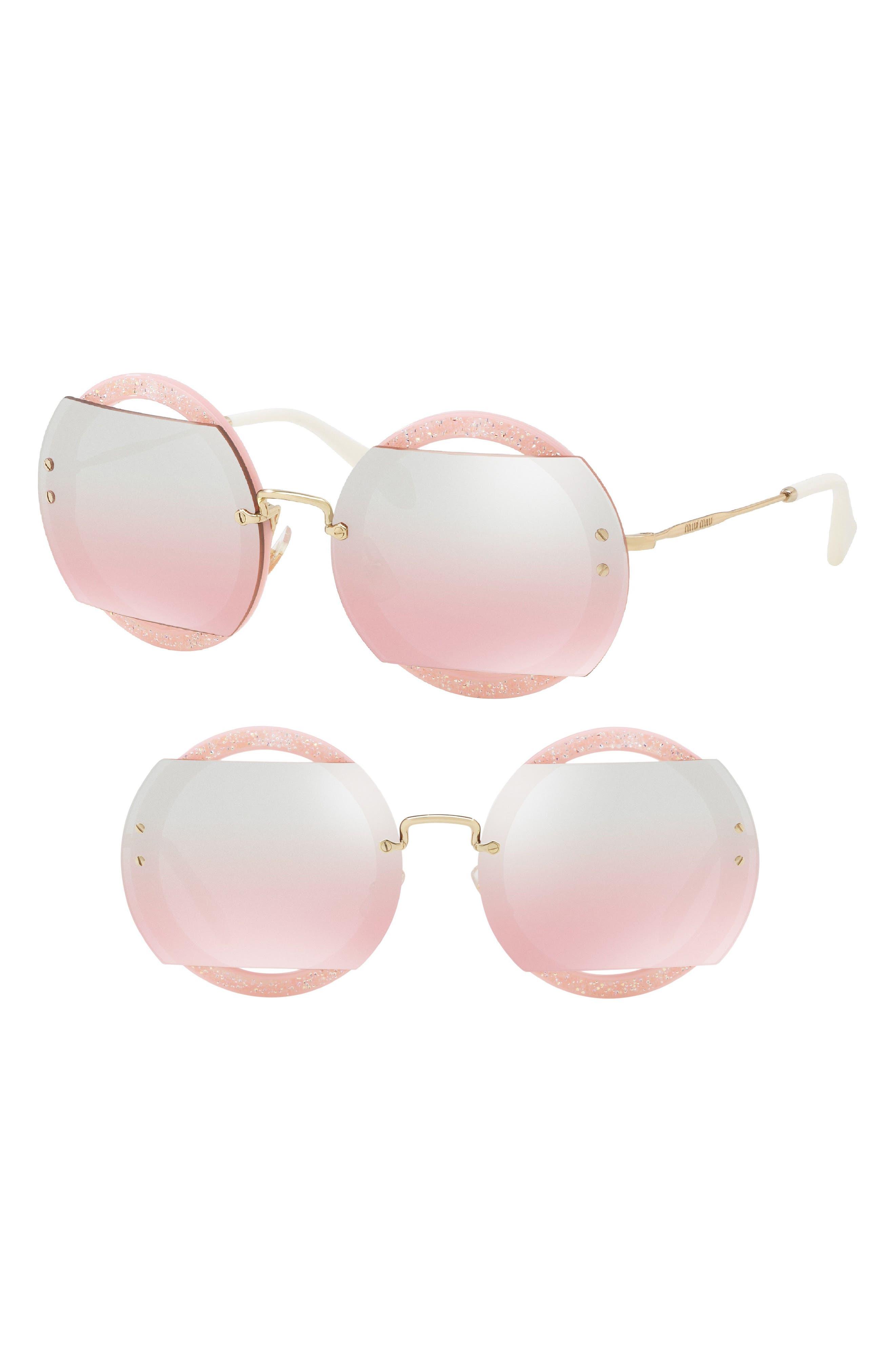 63mm Round Sunglasses,                             Main thumbnail 3, color,