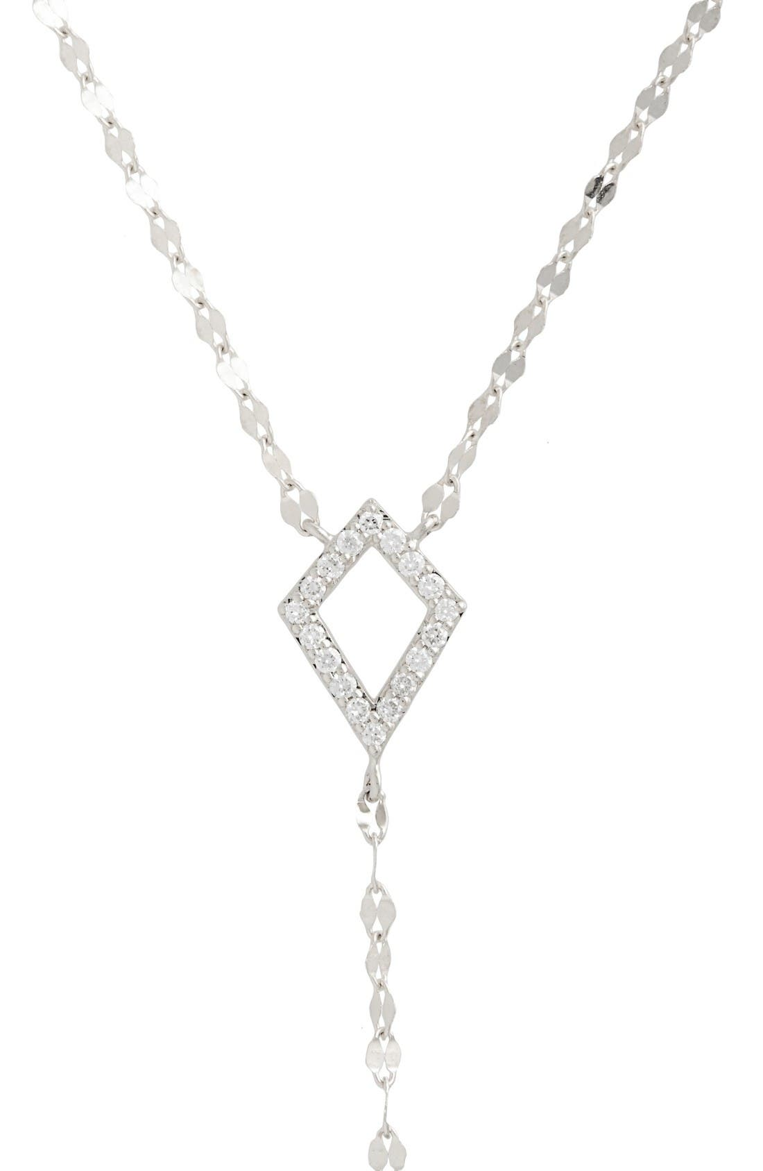 Flawless Diamond Kite Y-Necklace,                             Alternate thumbnail 3, color,