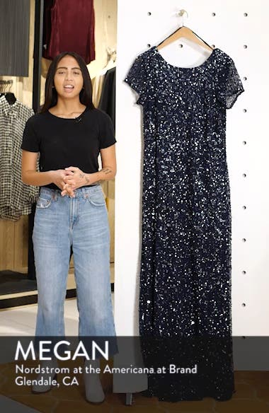 Embellished Scoop Back Gown, sales video thumbnail