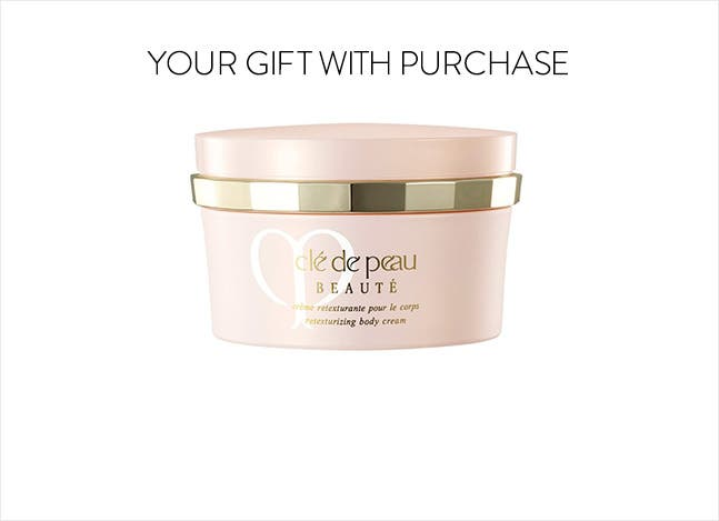Clé de Peau Beauté gift with purchase.