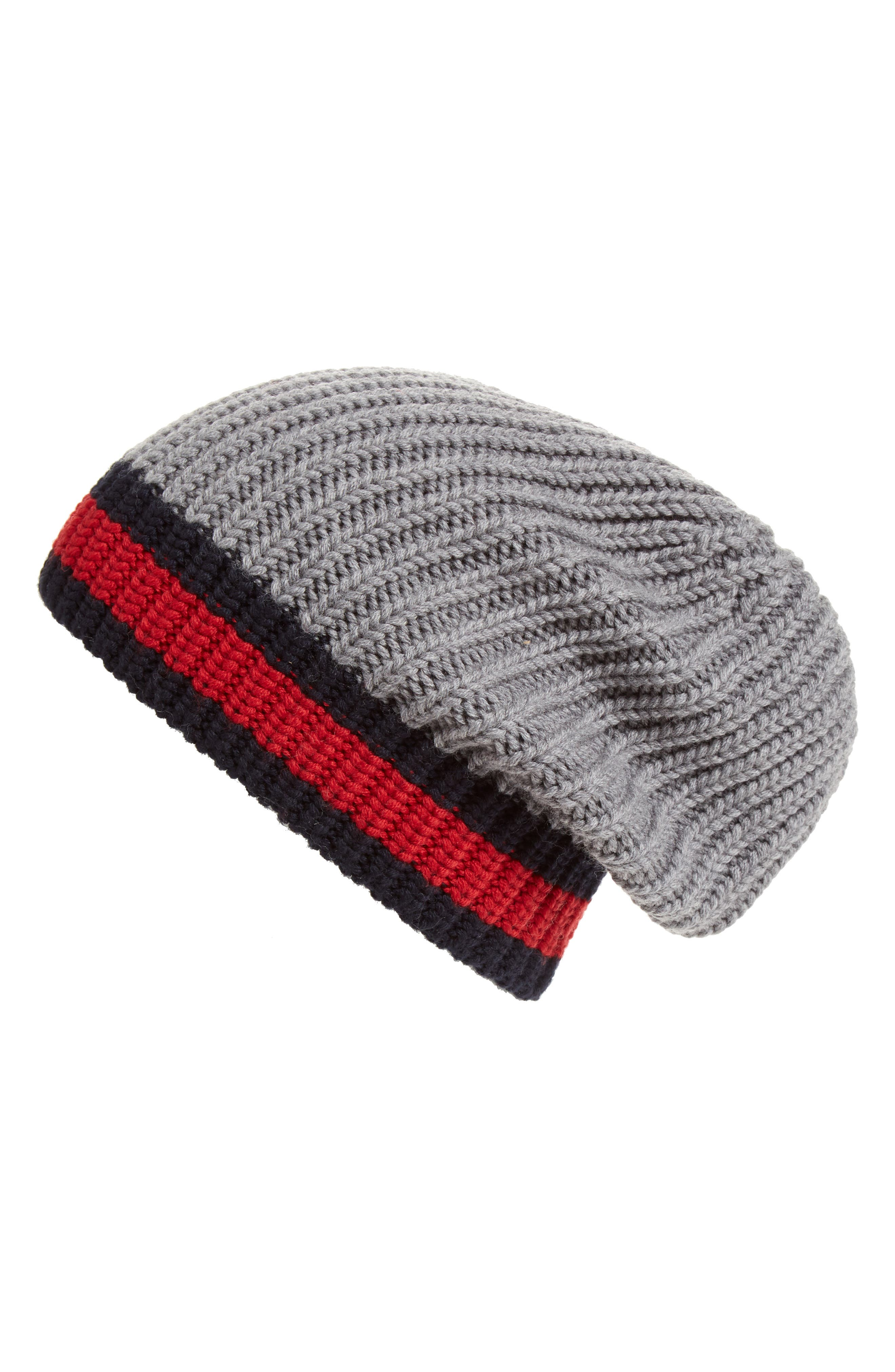 Stripe Wool Beanie,                             Alternate thumbnail 5, color,