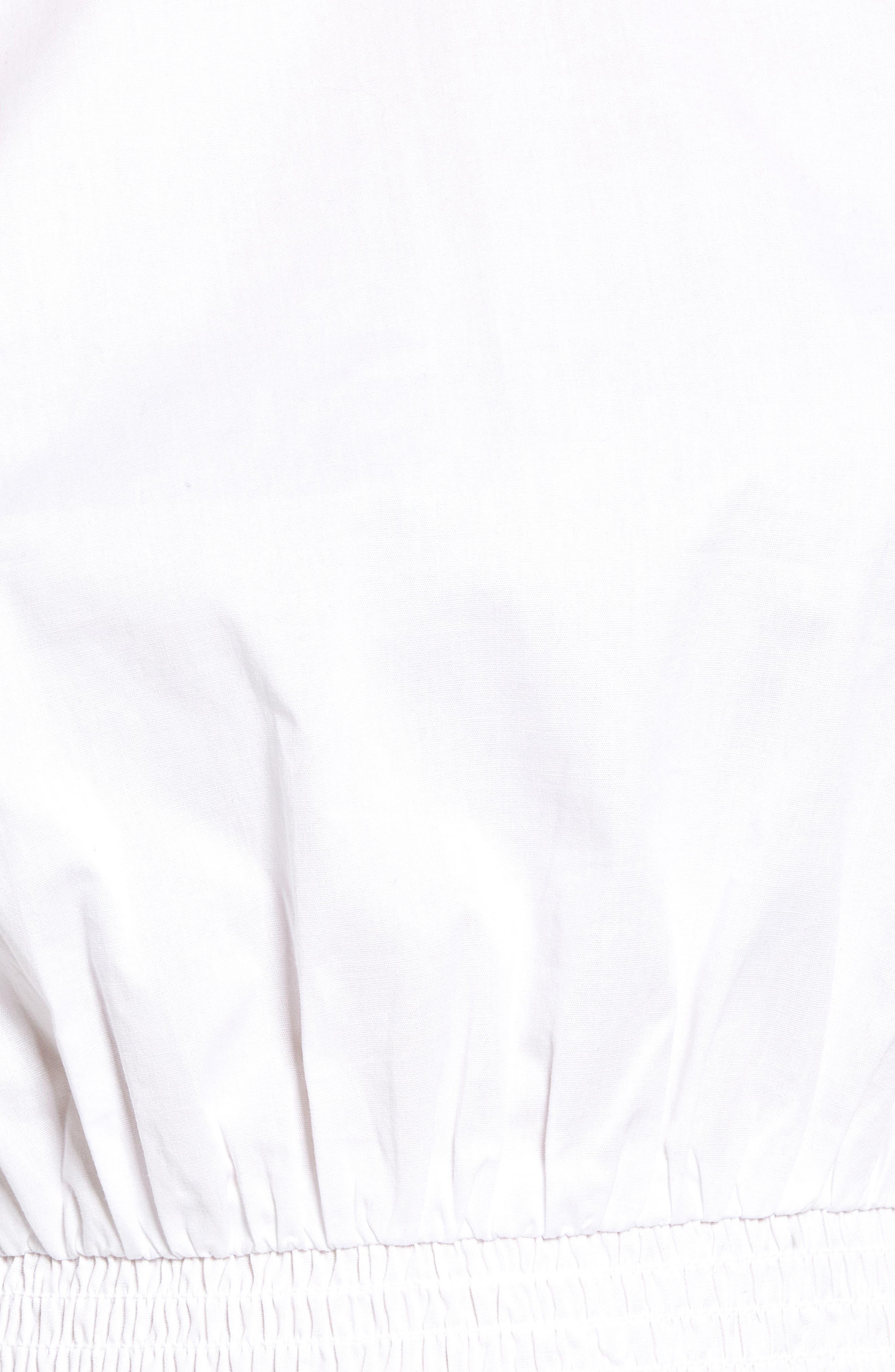 Smocked Waist Peplum Top,                             Alternate thumbnail 5, color,                             100