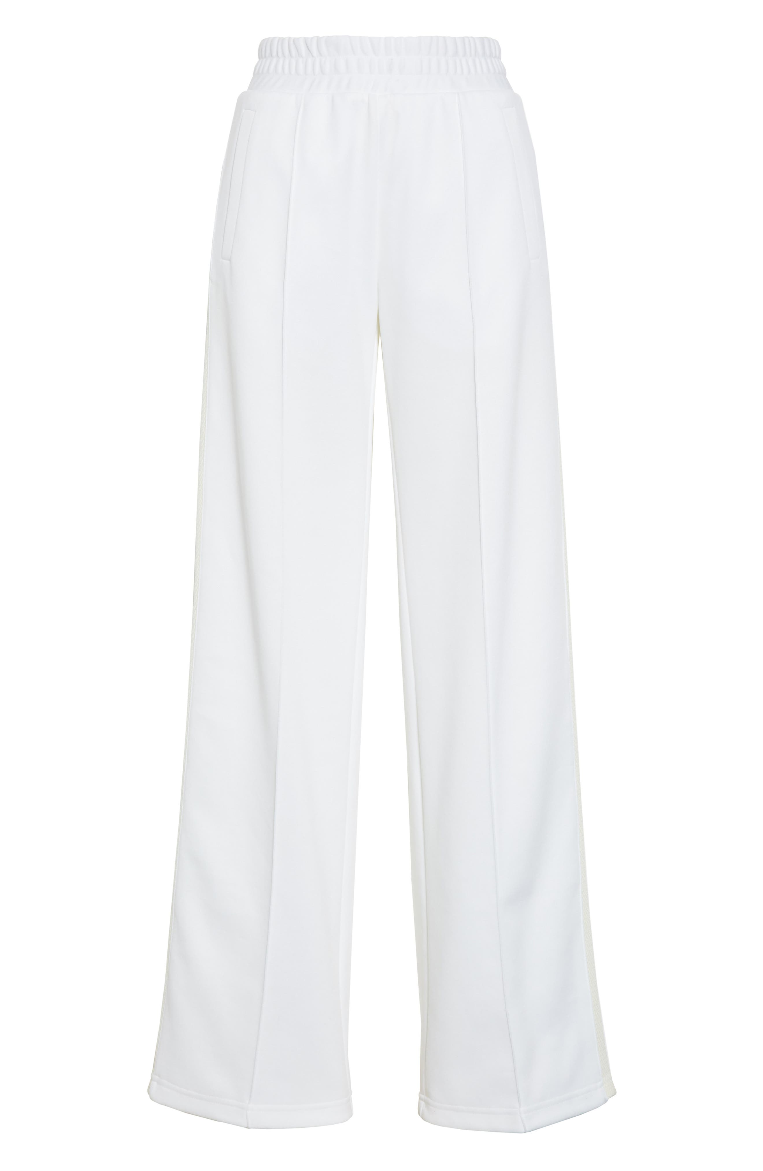 Gym Track Pants,                             Alternate thumbnail 6, color,                             WHITE