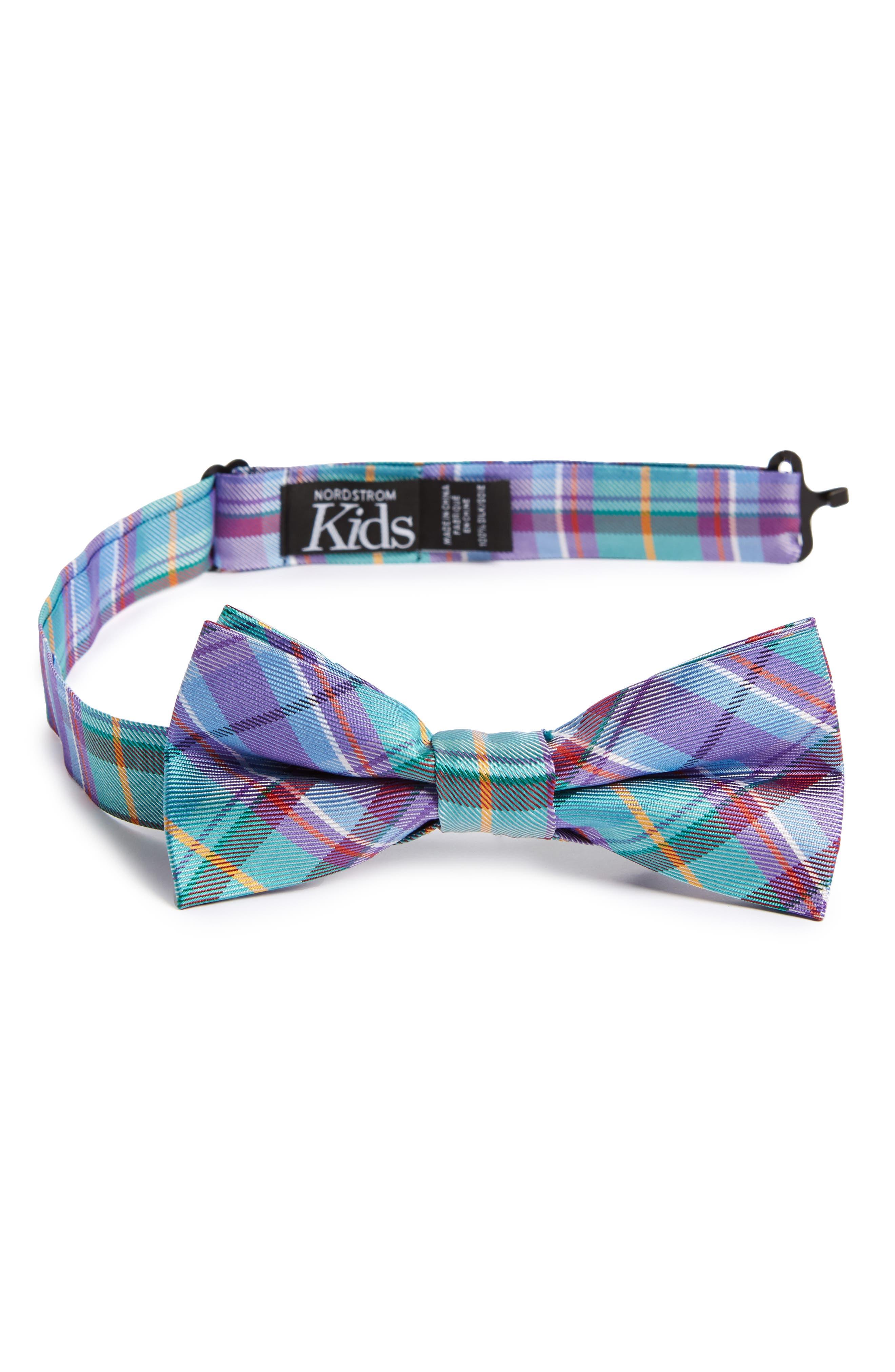 Tartan Silk Bow Tie,                         Main,                         color, 445