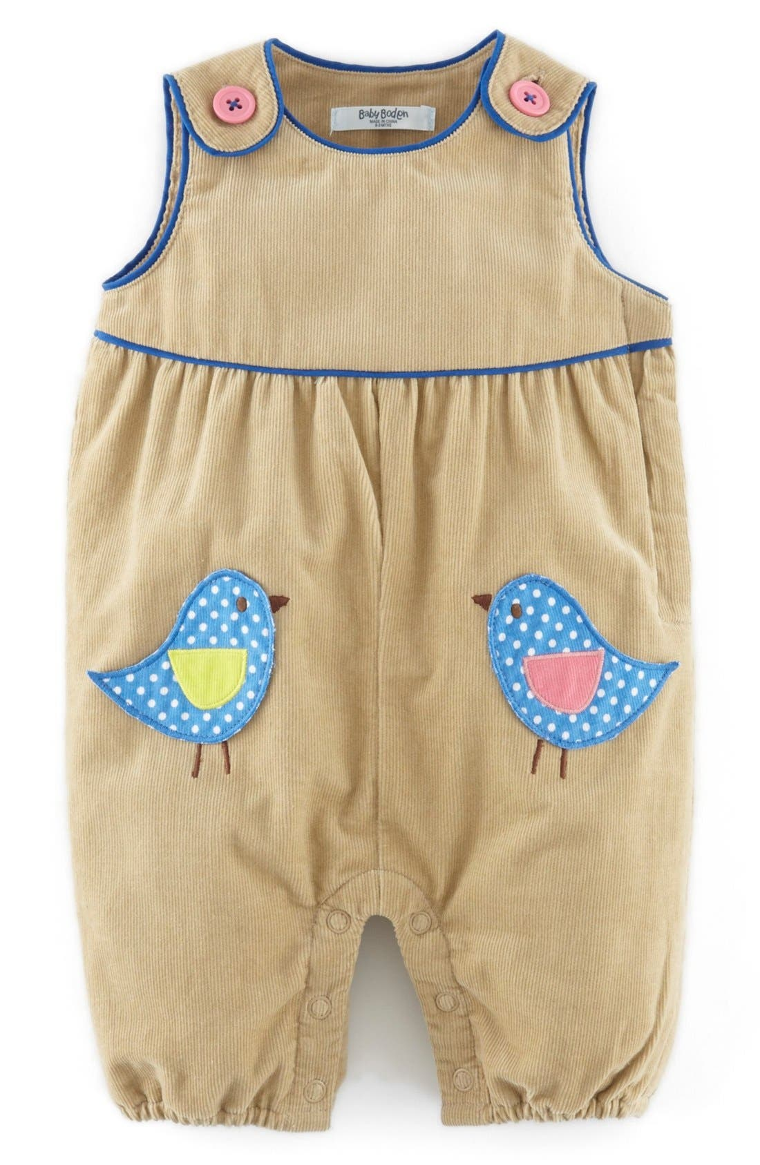 Appliqué Corduroy Overalls,                             Main thumbnail 1, color,                             234