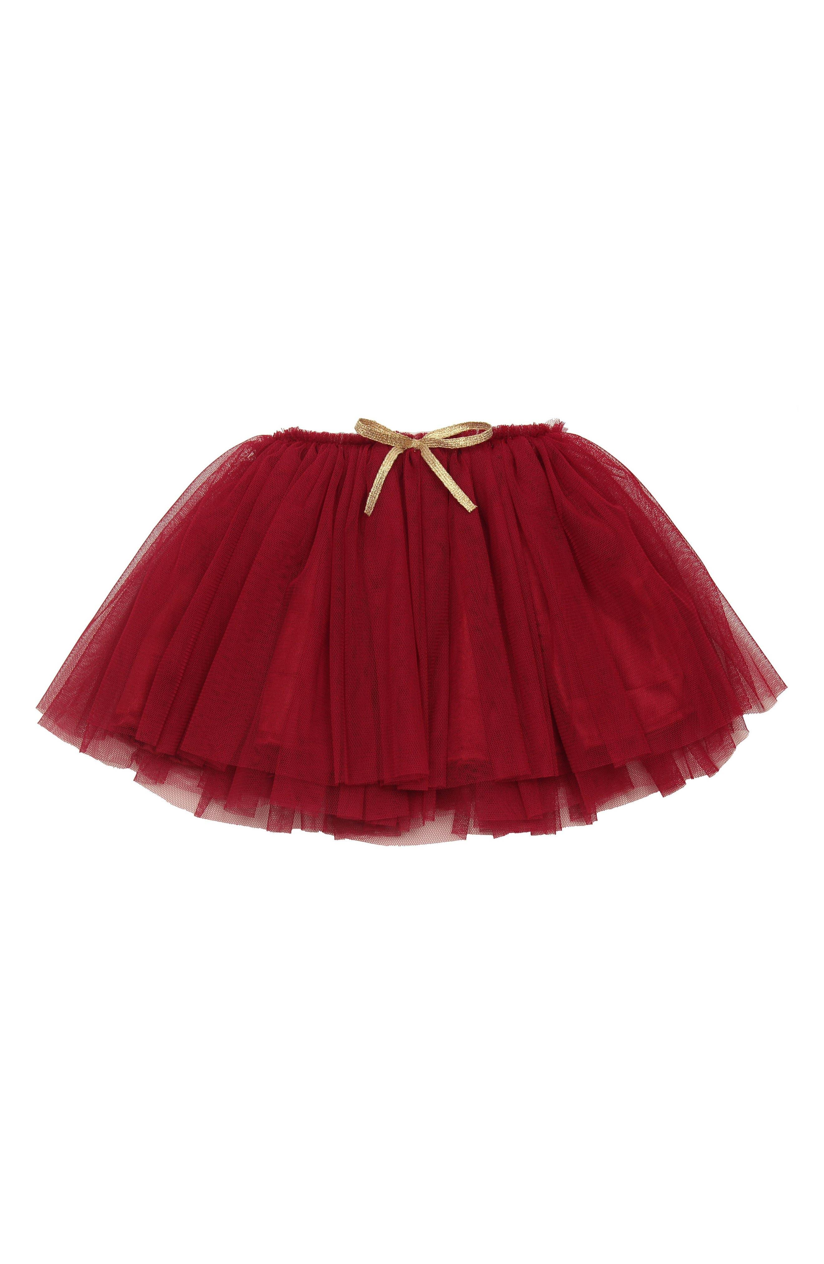Tutu Skirt,                             Alternate thumbnail 3, color,                             BURGUNDY