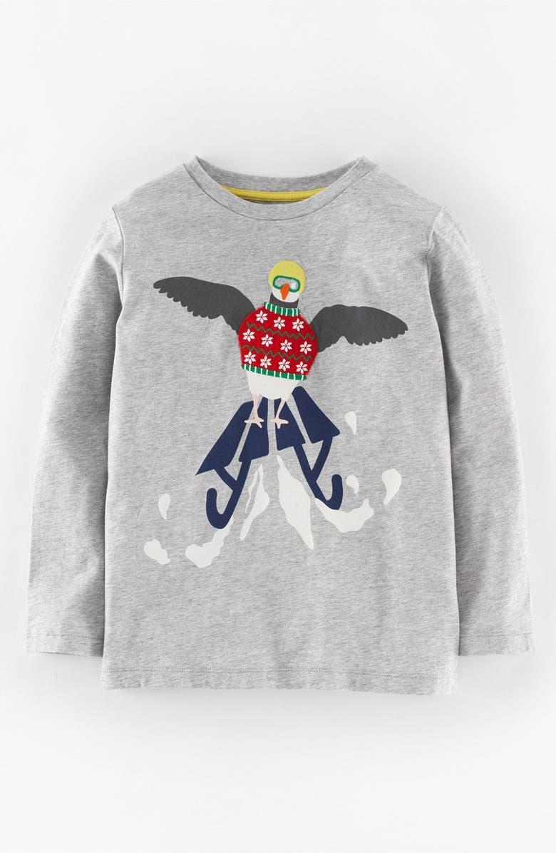 36611a023311 Mini Boden  Festive  Appliqué T-Shirt (Toddler Boys
