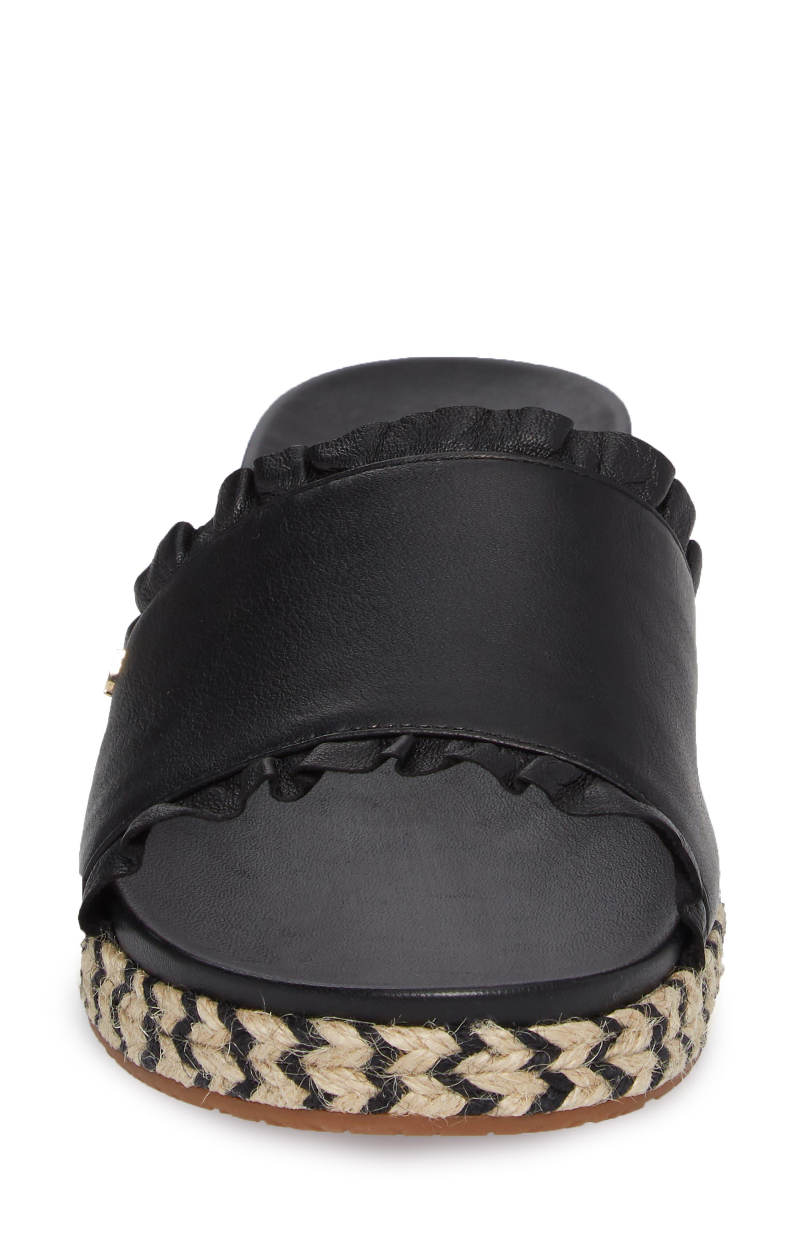 zahara slide sandal,                             Alternate thumbnail 4, color,                             BLACK NAPPA