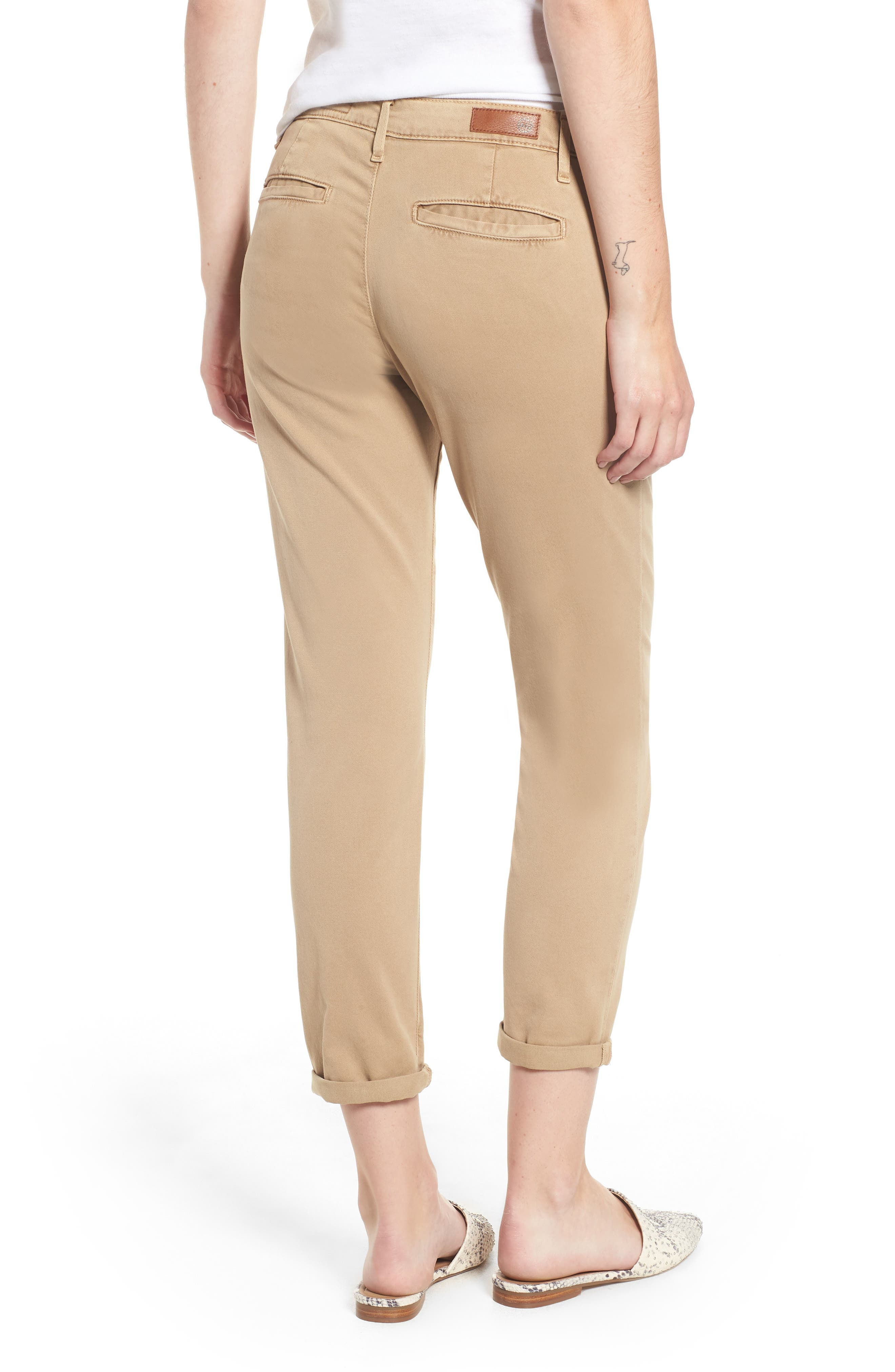 Caden Crop Twill Trousers,                             Alternate thumbnail 2, color,                             SULFUR TOASTED