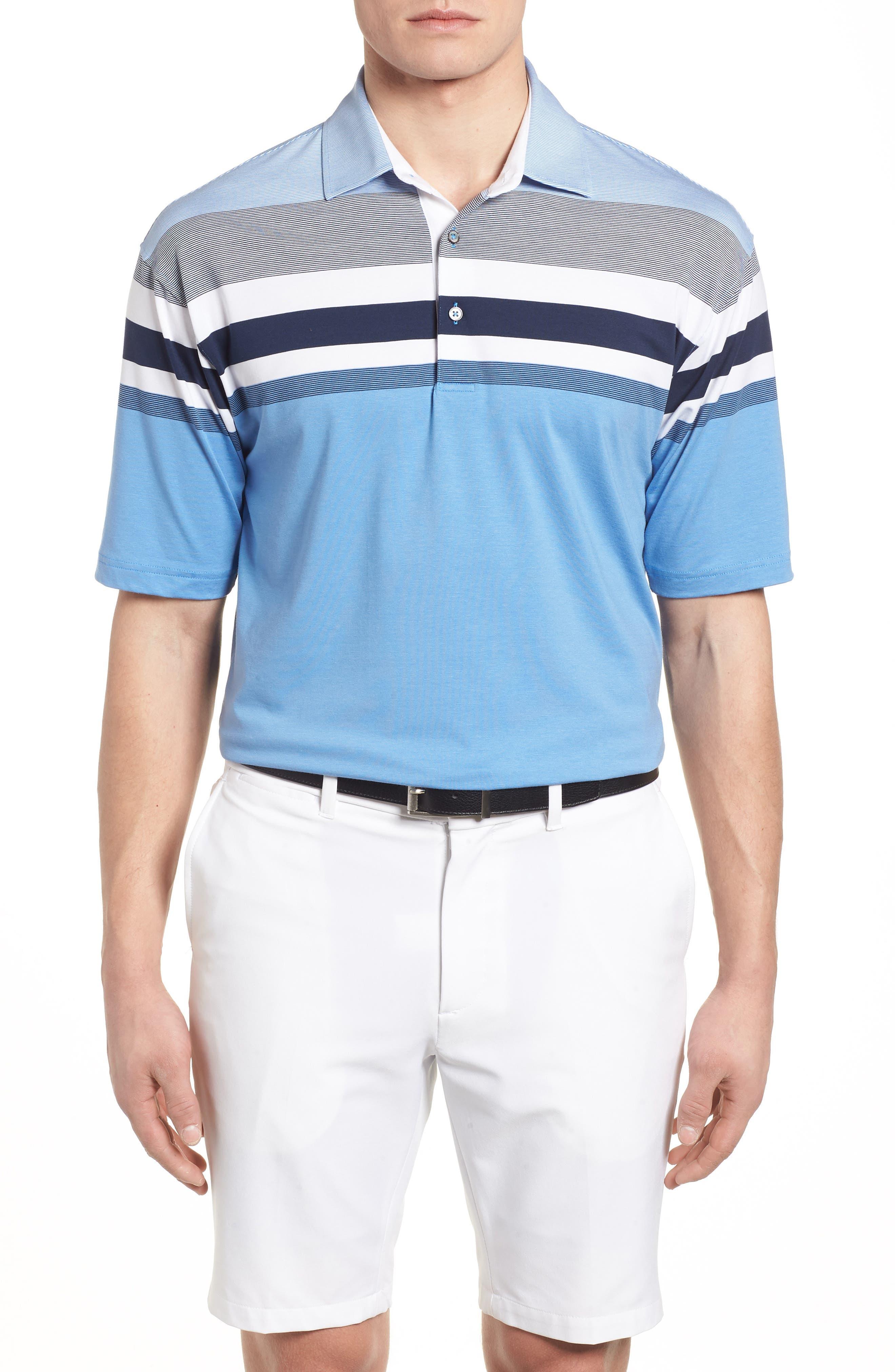 Horizon Stripe Polo,                         Main,                         color, 434