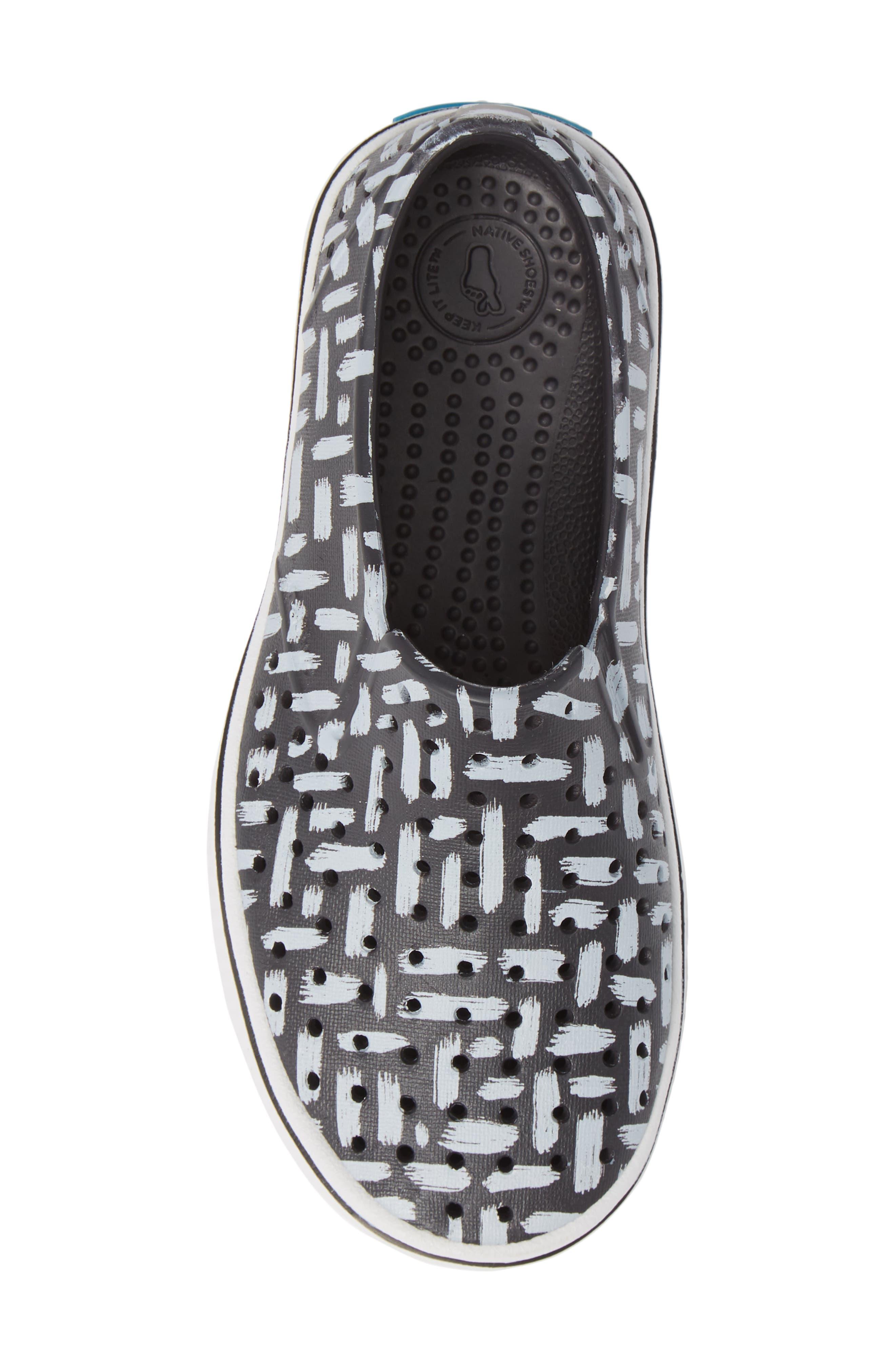 Miles Print Slip-On Sneaker,                             Alternate thumbnail 5, color,                             ONYX/ SHELL WHITE/ INKWELL