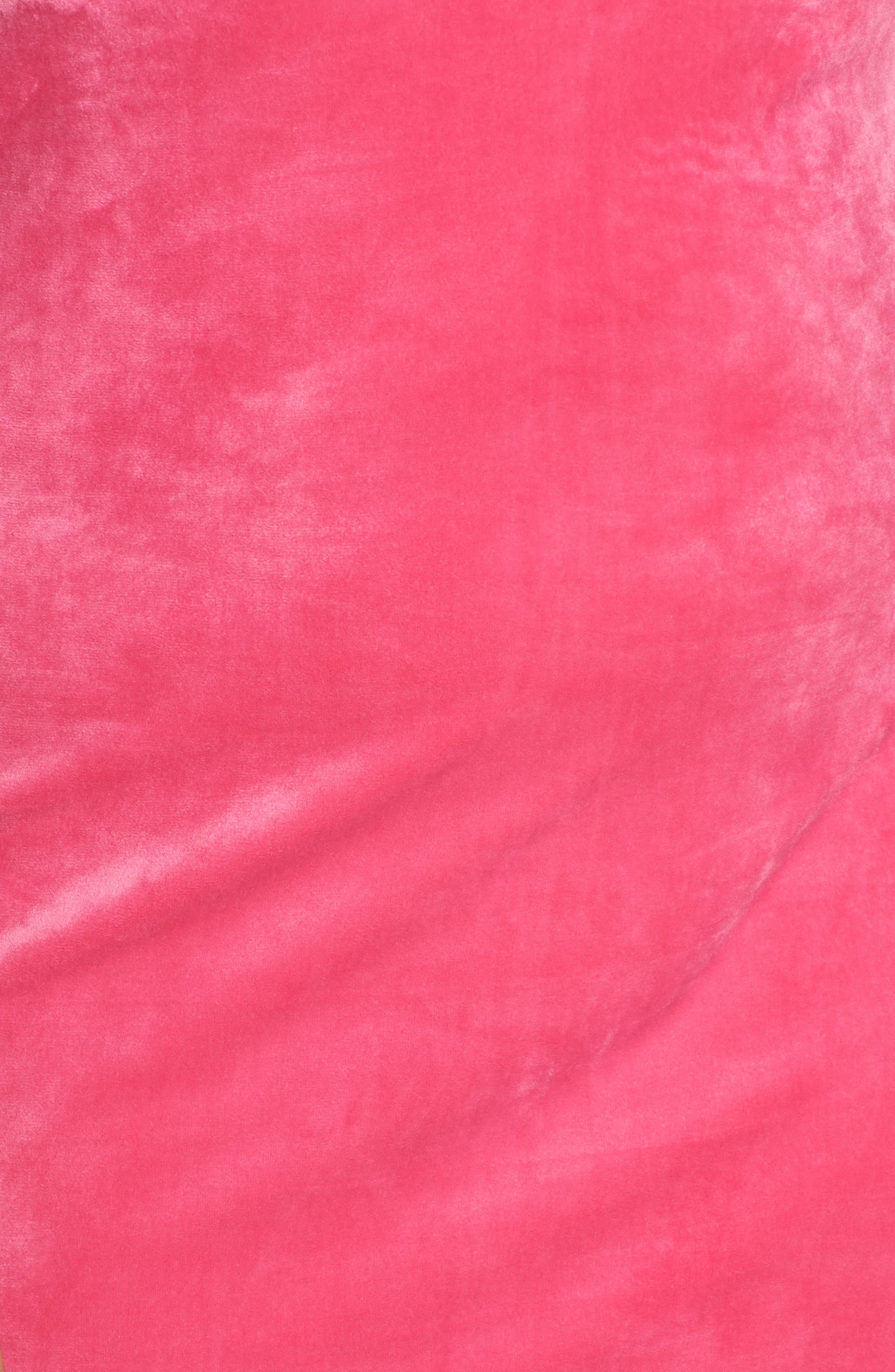Endless Night Velour Shift Dress,                             Alternate thumbnail 6, color,                             STREET PNK