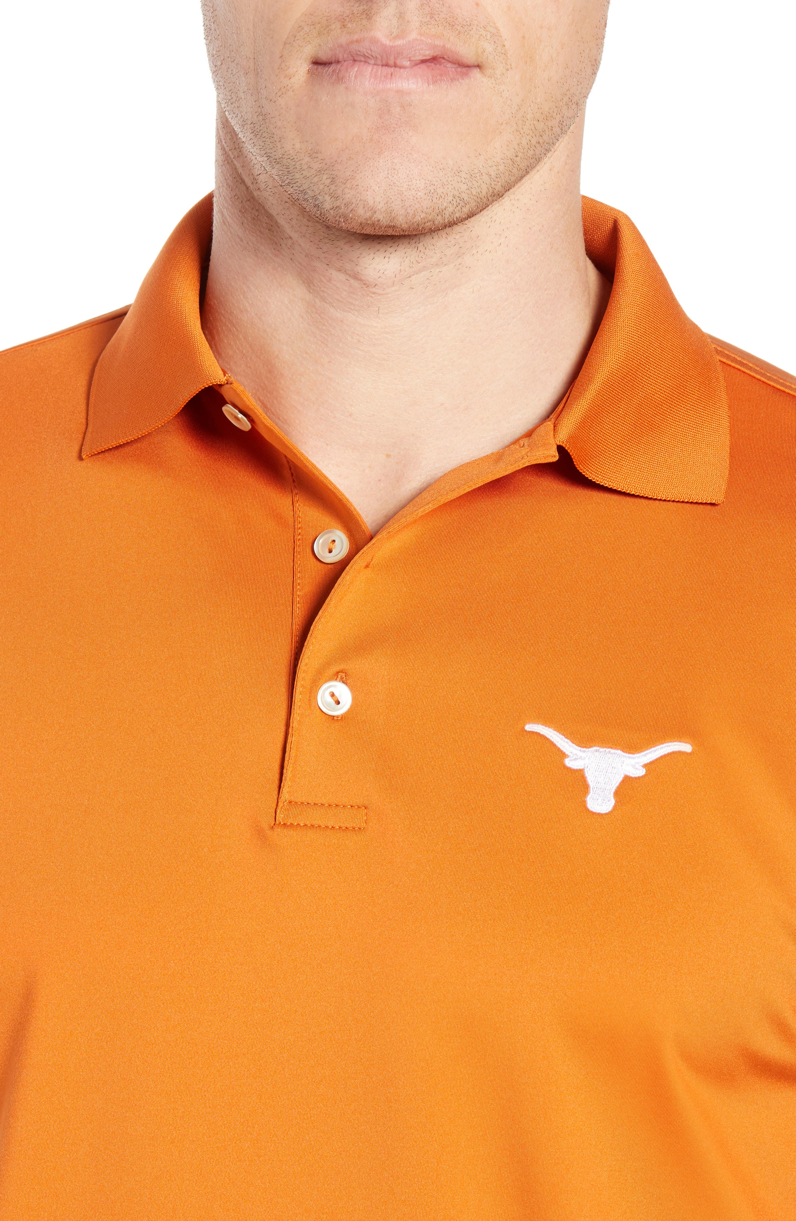 Texas Solid Performance Polo Shirt,                             Alternate thumbnail 4, color,                             600
