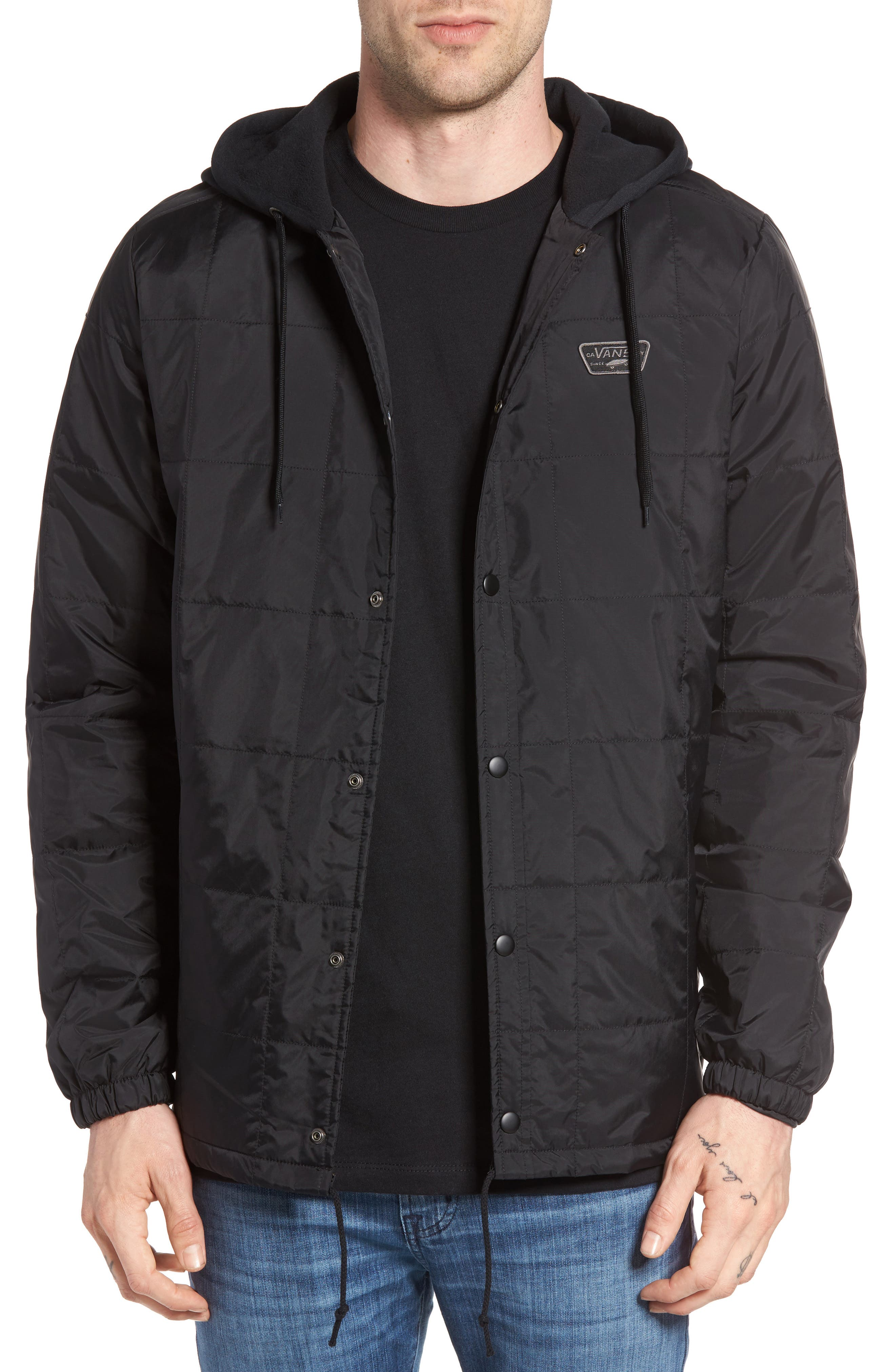 Santiago III Water Repellent Quilted Jacket,                             Main thumbnail 1, color,                             001