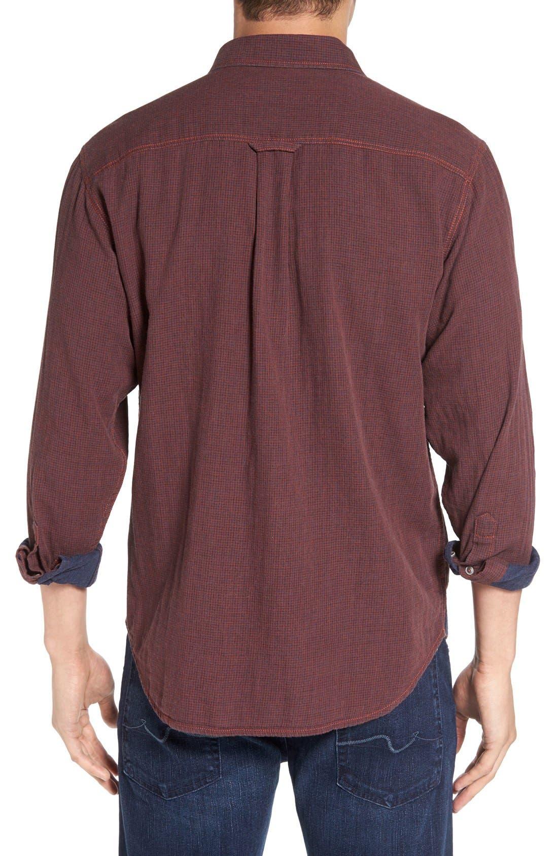 'Havana Squared' Regular Fit Microcheck Sport Shirt,                             Alternate thumbnail 2, color,                             200