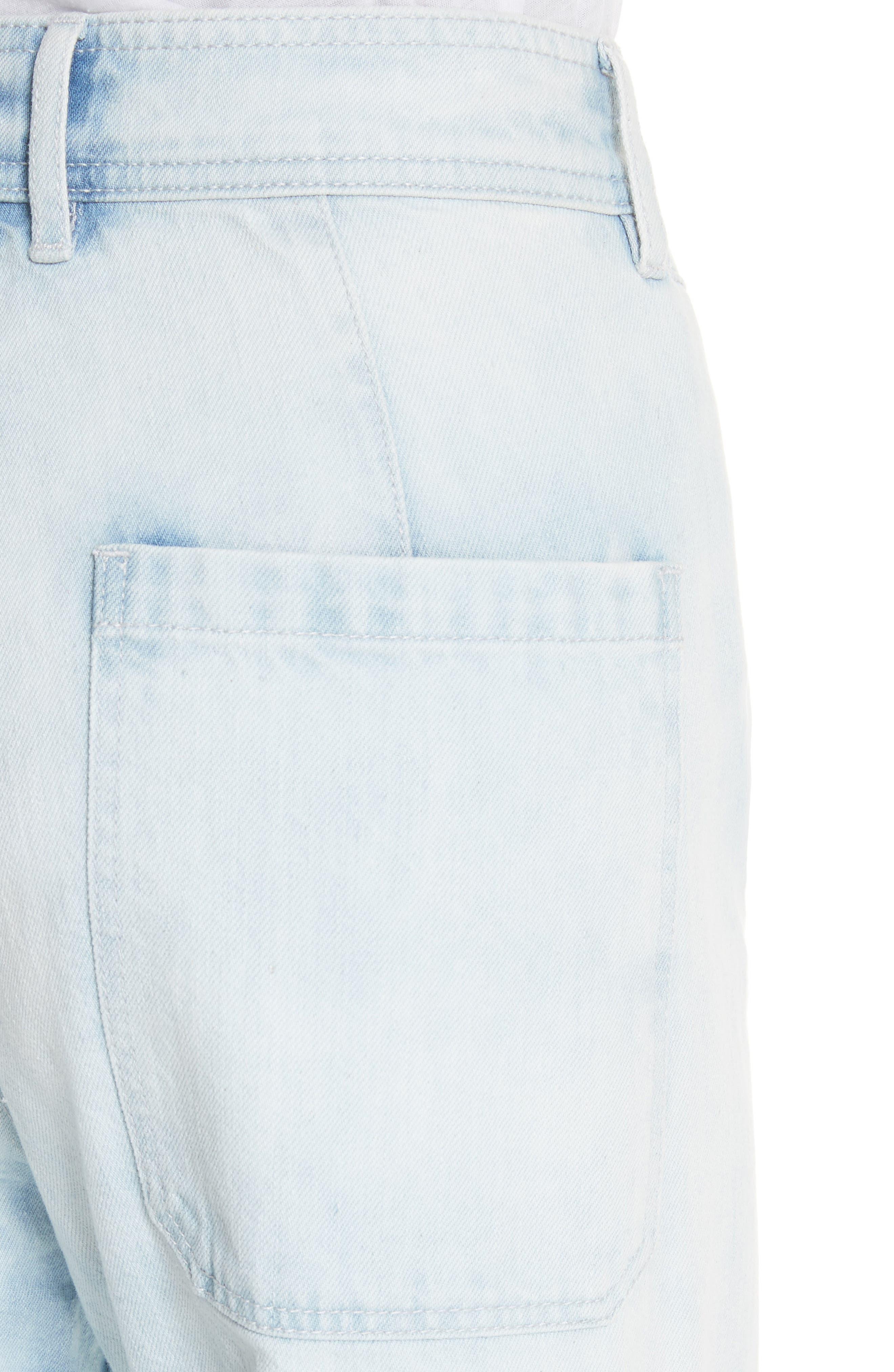 Crop Wide Leg Jeans,                             Alternate thumbnail 4, color,                             NUAGE WASH