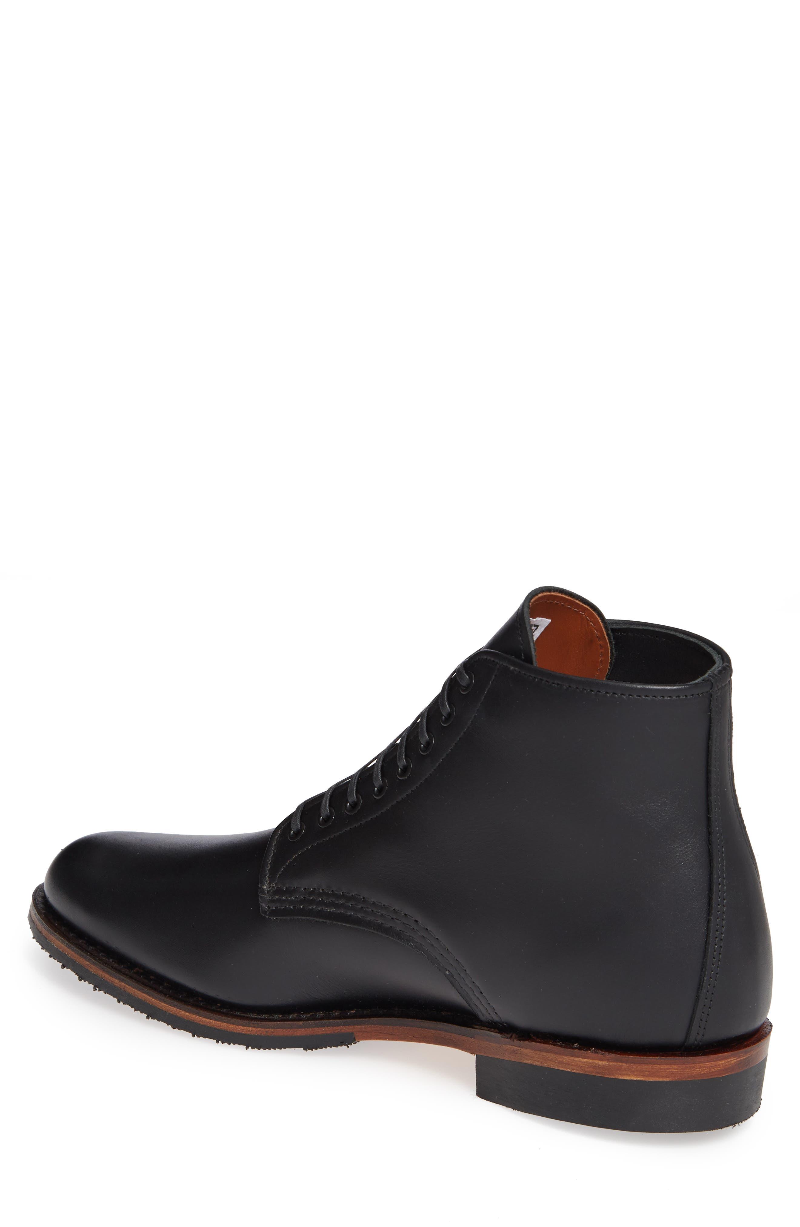 RED WING,                             Williston Plain Toe Boot,                             Alternate thumbnail 2, color,                             BLACK LEATHER