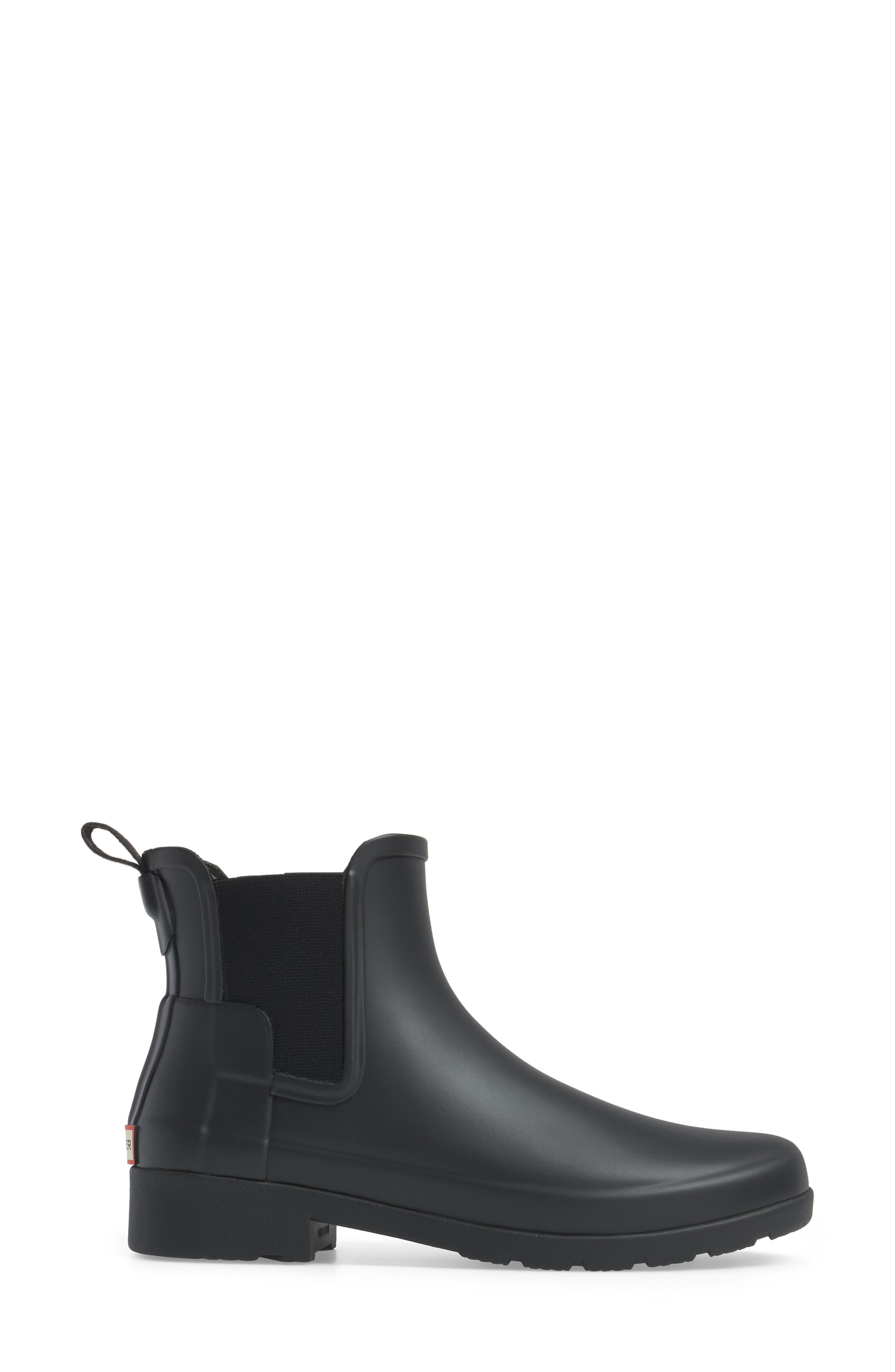 Refined Chelsea Boot,                             Alternate thumbnail 3, color,                             BLACK