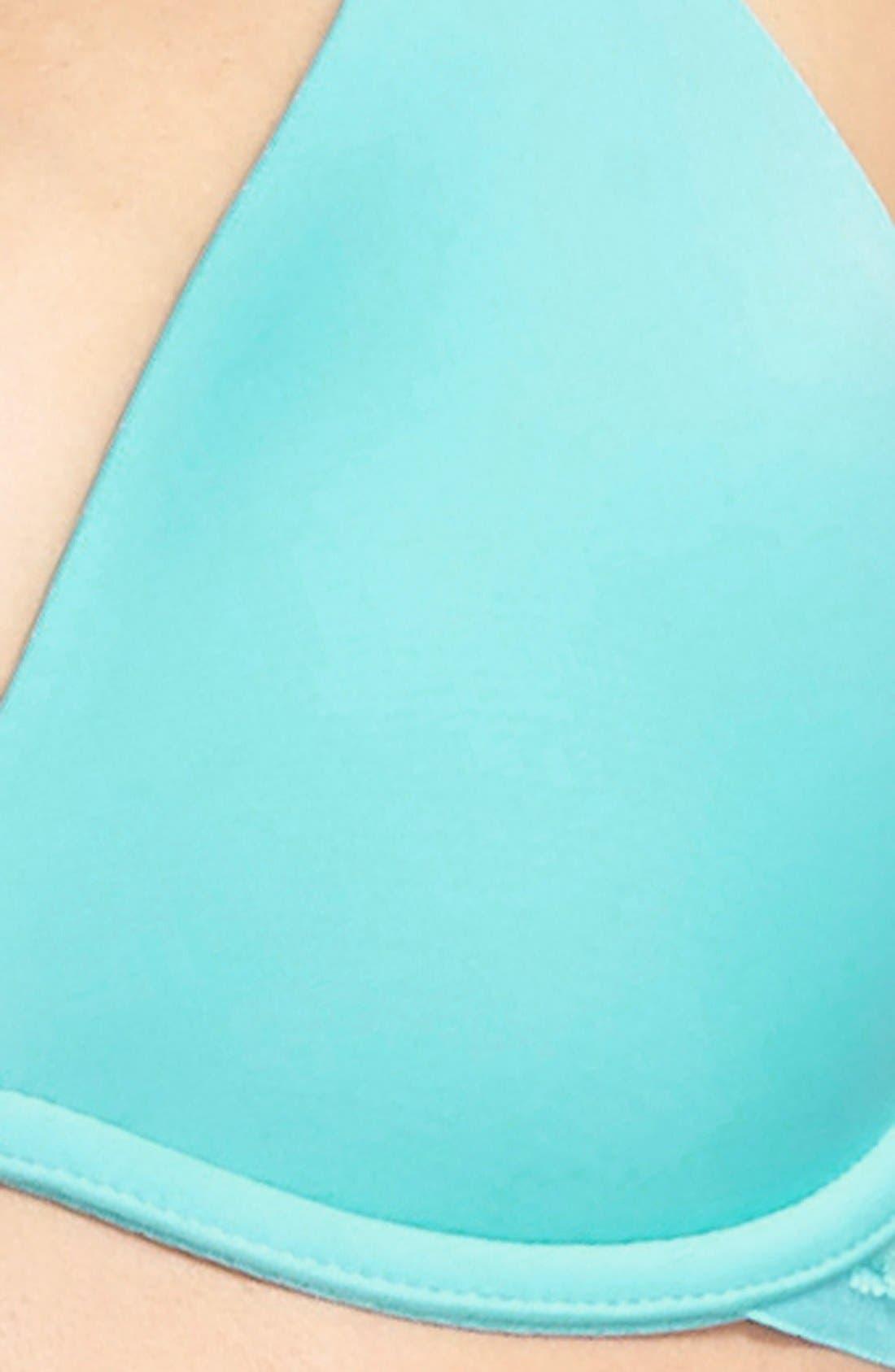 'Beautifully Basic' Lace Trim Underwire Plunge Bra,                             Alternate thumbnail 28, color,