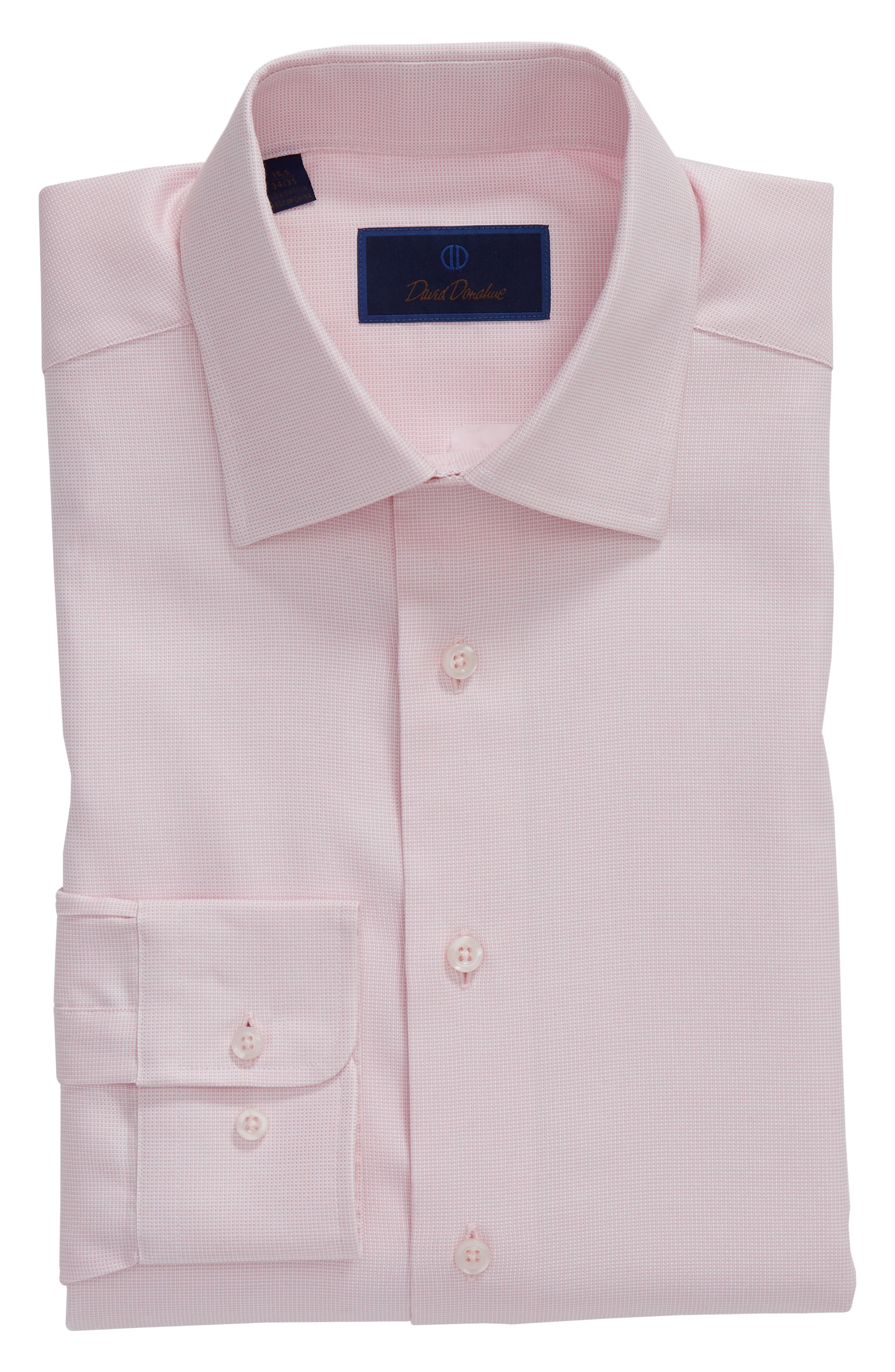 Regular Fit Solid Dress Shirt,                             Alternate thumbnail 5, color,                             PINK