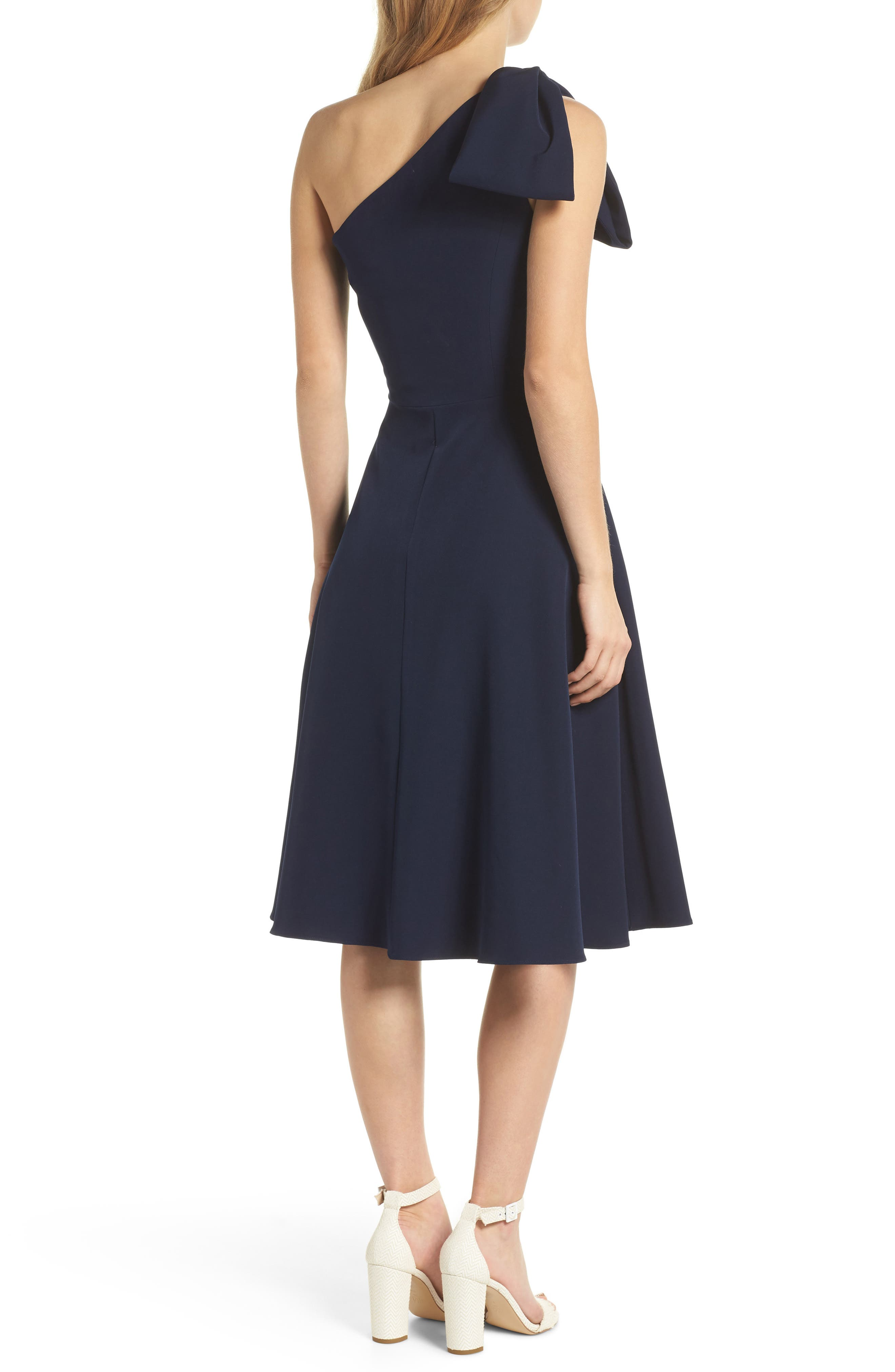 GAL MEETS GLAM COLLECTION,                             Yvonne Dream Crepe One-Shoulder Dress,                             Alternate thumbnail 2, color,                             462