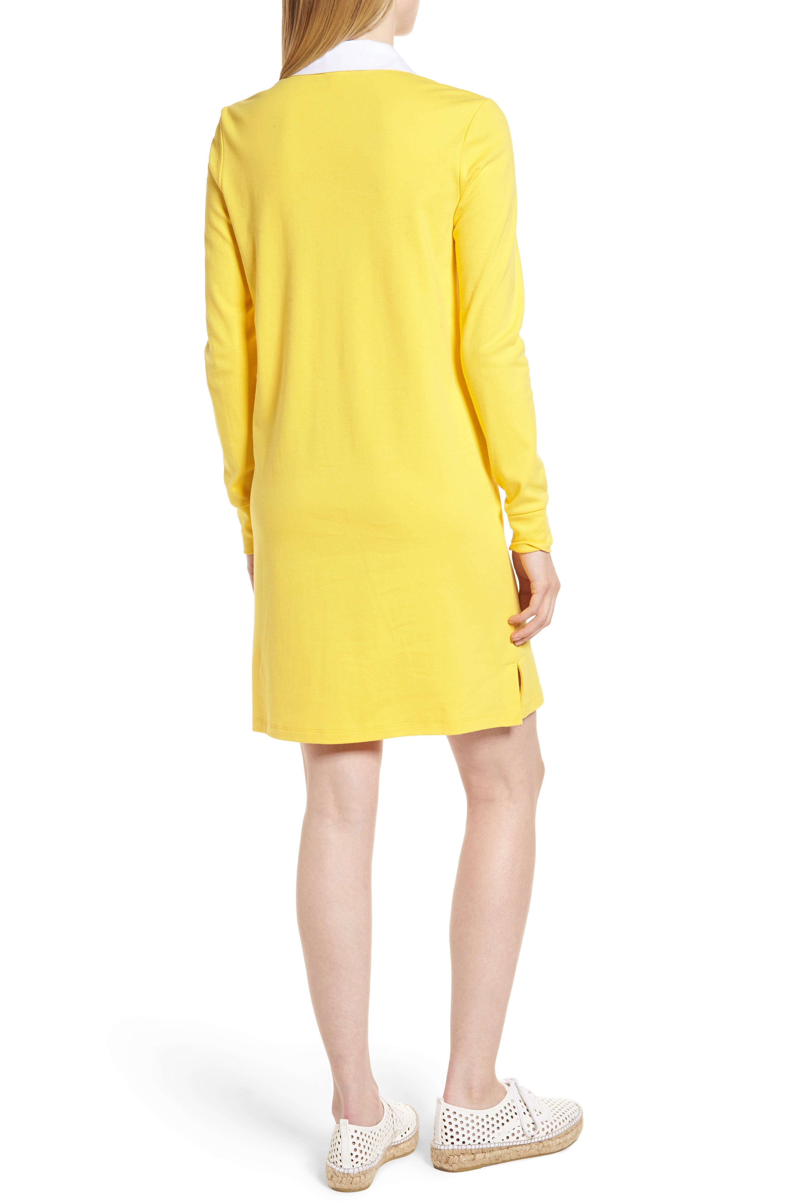 Cotton Rugby Dress,                             Alternate thumbnail 8, color,