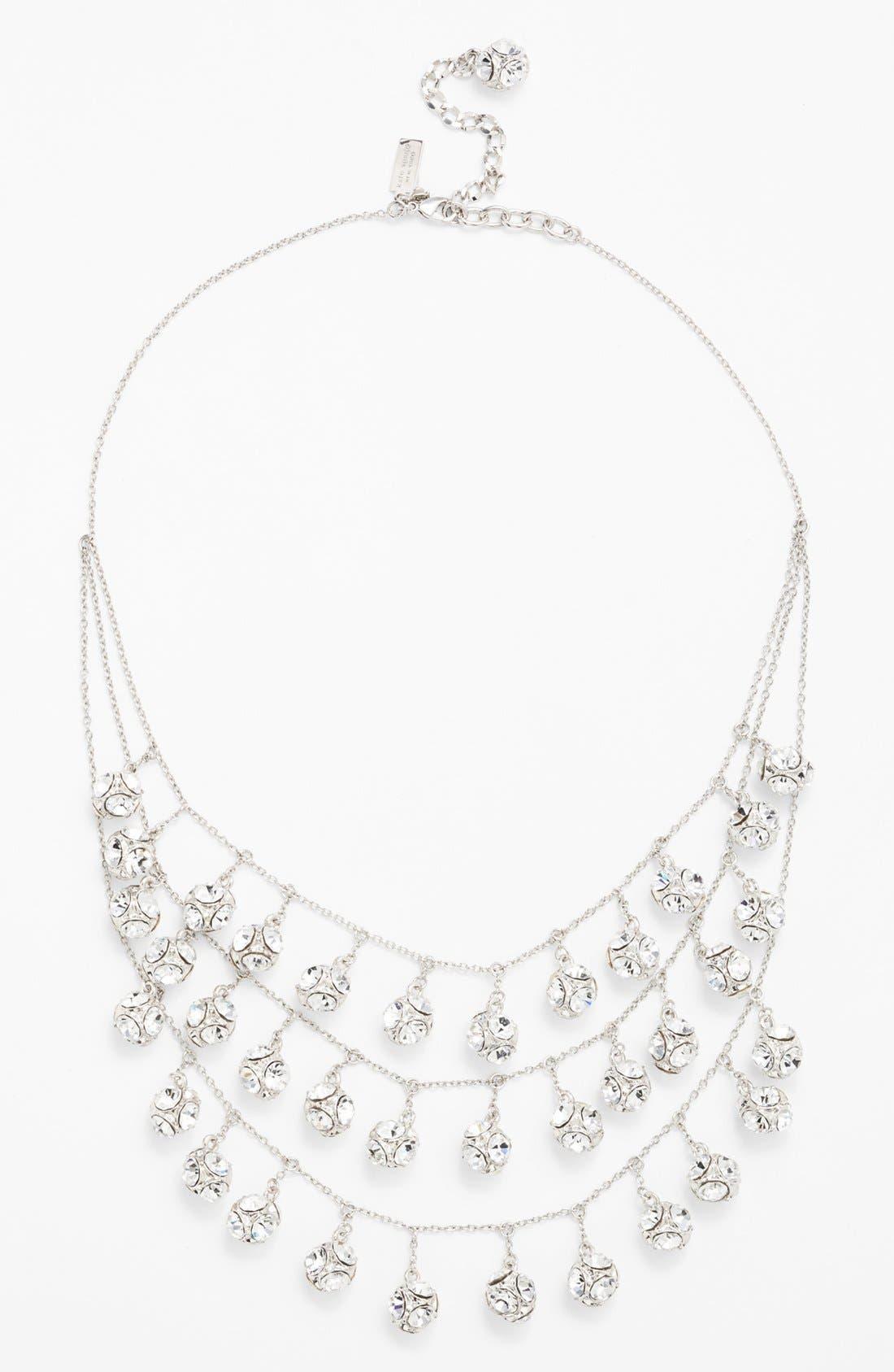 mini fringe bib necklace,                             Alternate thumbnail 4, color,                             040