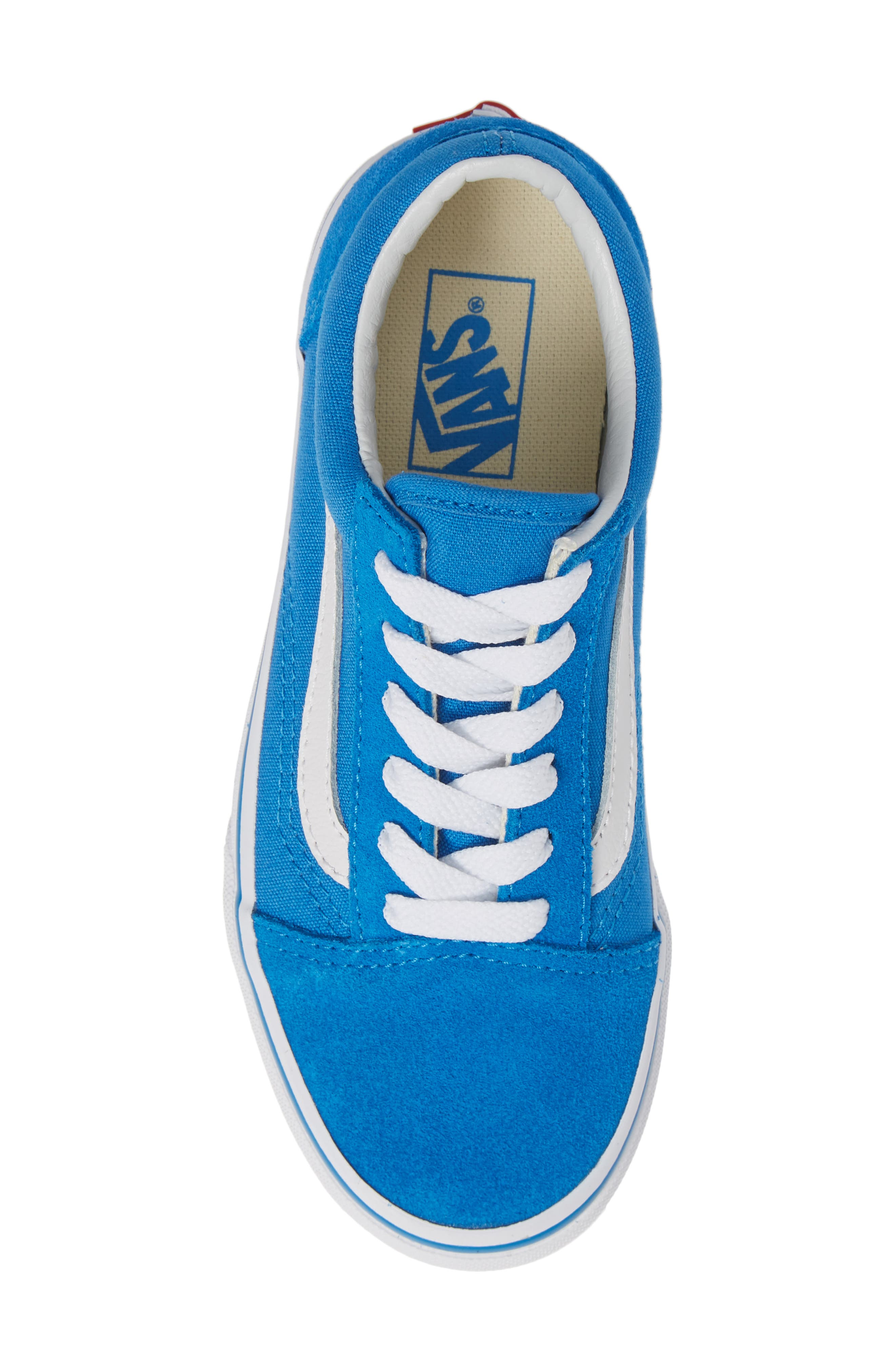 Old Skool Sneaker,                             Alternate thumbnail 5, color,                             INDIGO BUNTING/ TRUE WHITE