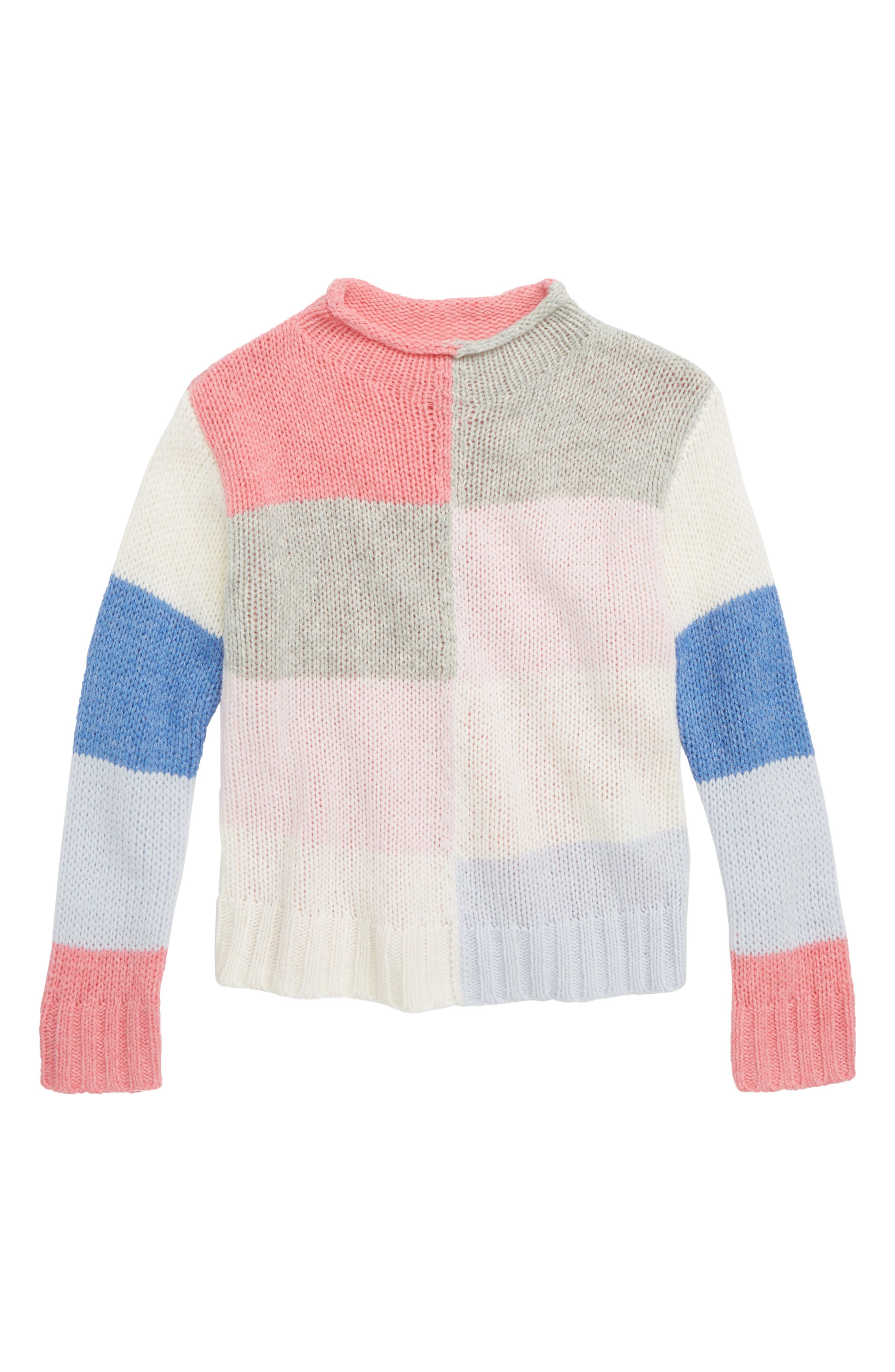Girls Crewcuts By Jcrew Colorblock Rollneck(TM) Sweater Size 14  Blue