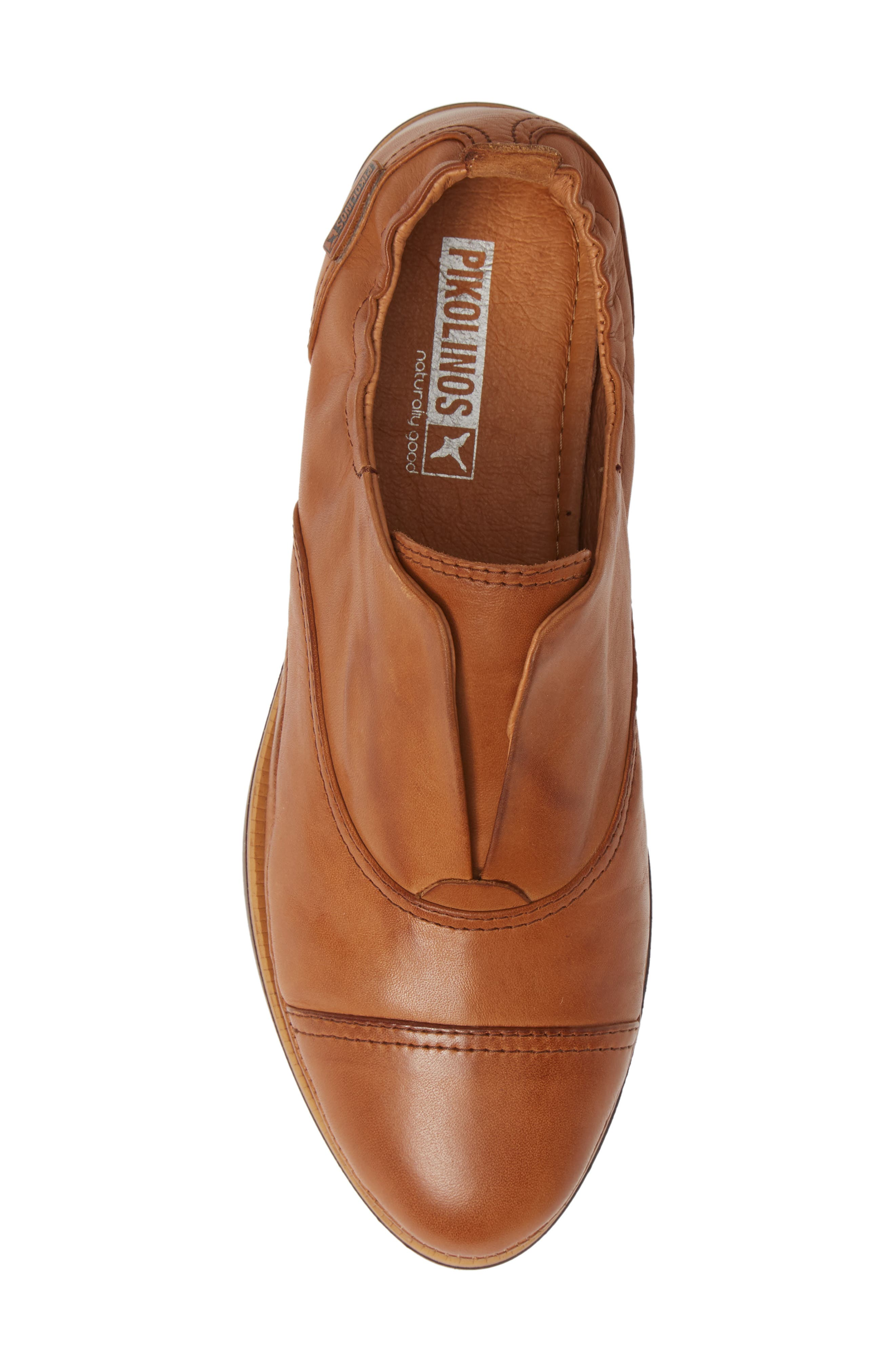 Santorini Colorblock Laceless Oxford,                             Alternate thumbnail 5, color,                             BRANDY LEATHER